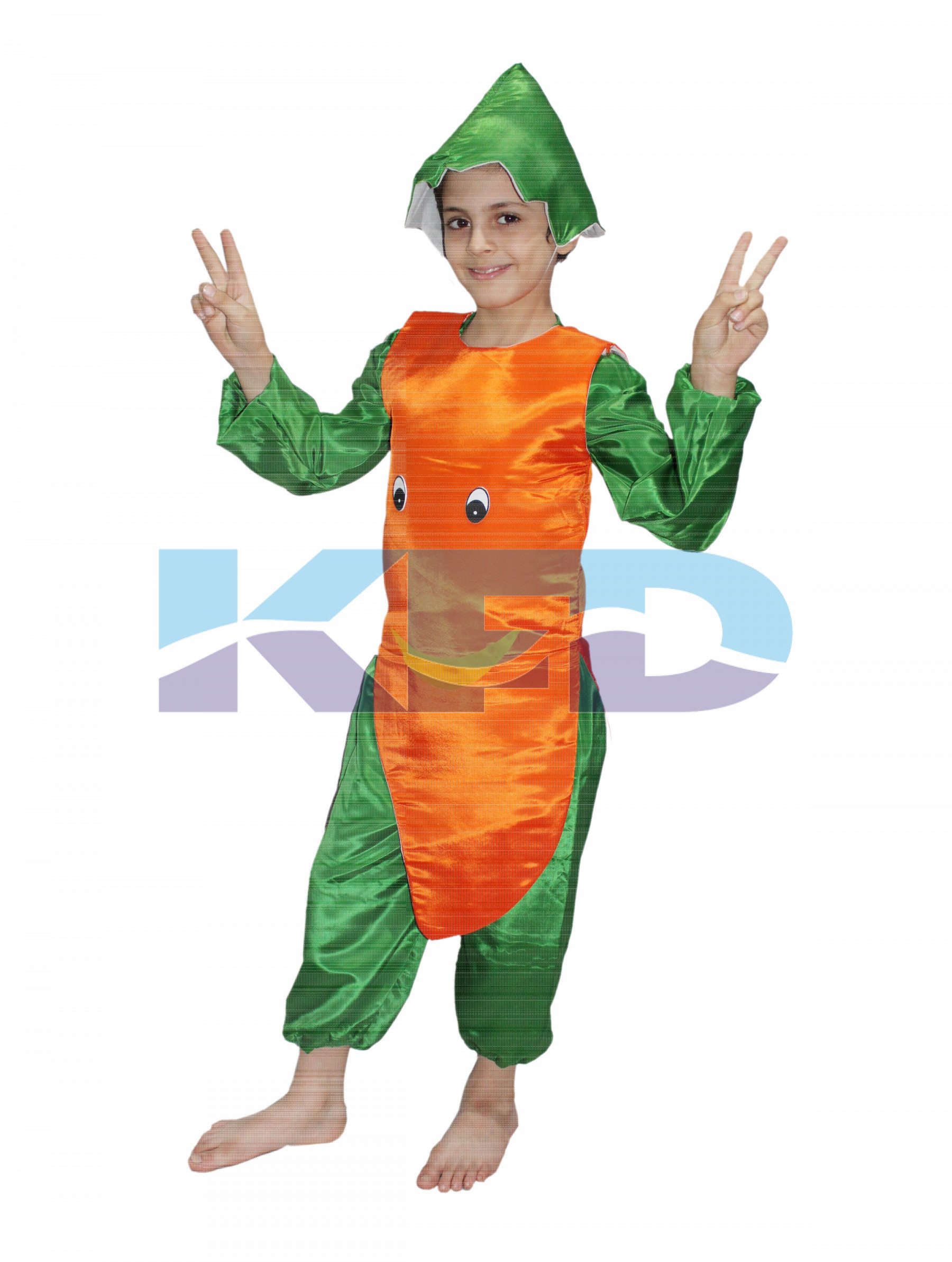 fd6cb3adaf83 Carrot fancy dress for kids,Fruits Costume for School Annual function/Theme  Party/Competition/Stage Shows Dress
