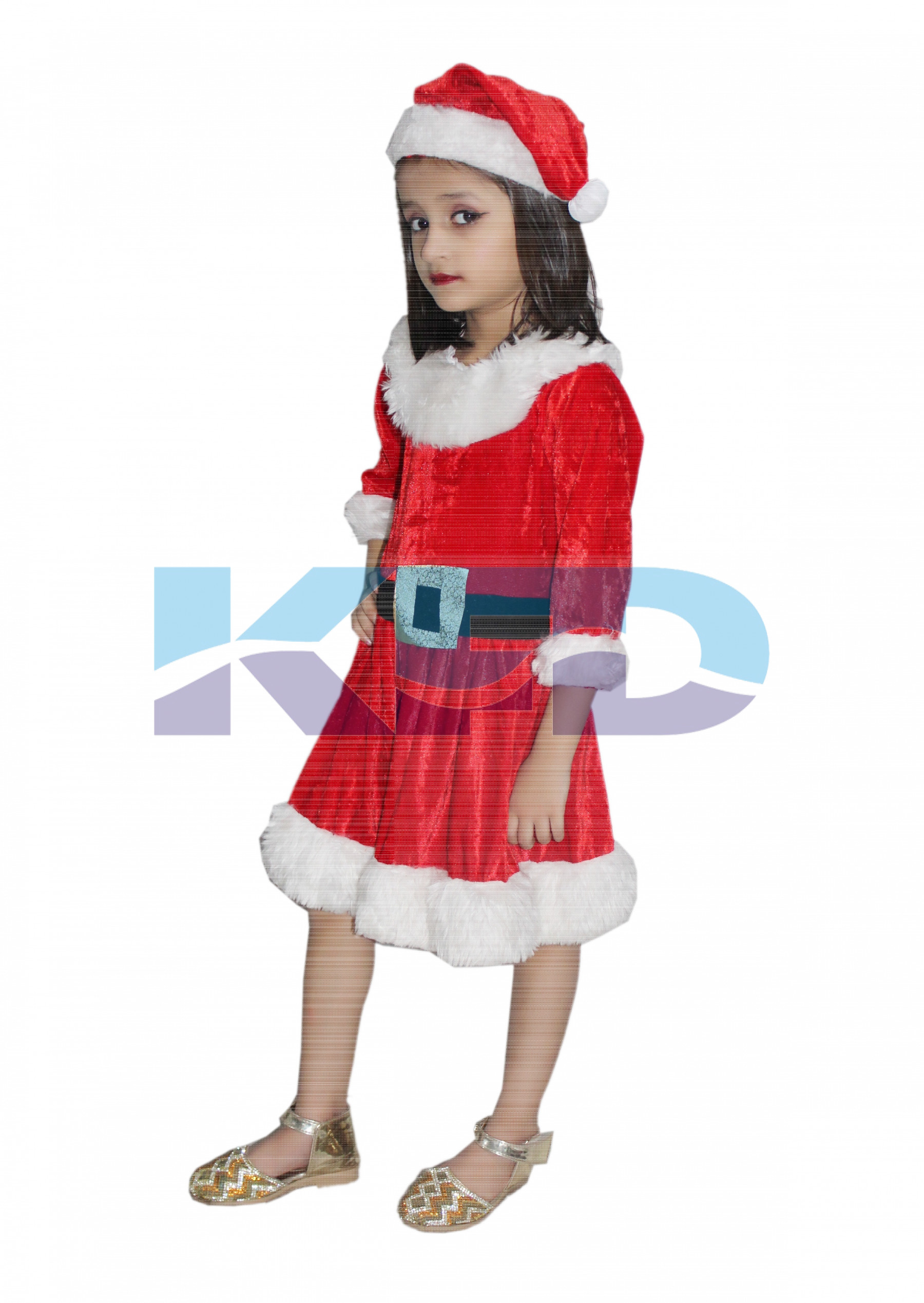 137aa9b9889e8 Santa Girl fancy dress for kids,Christmas Day costume for annual  function/theme party/competition/Stage Shows/Birthday Party Dress