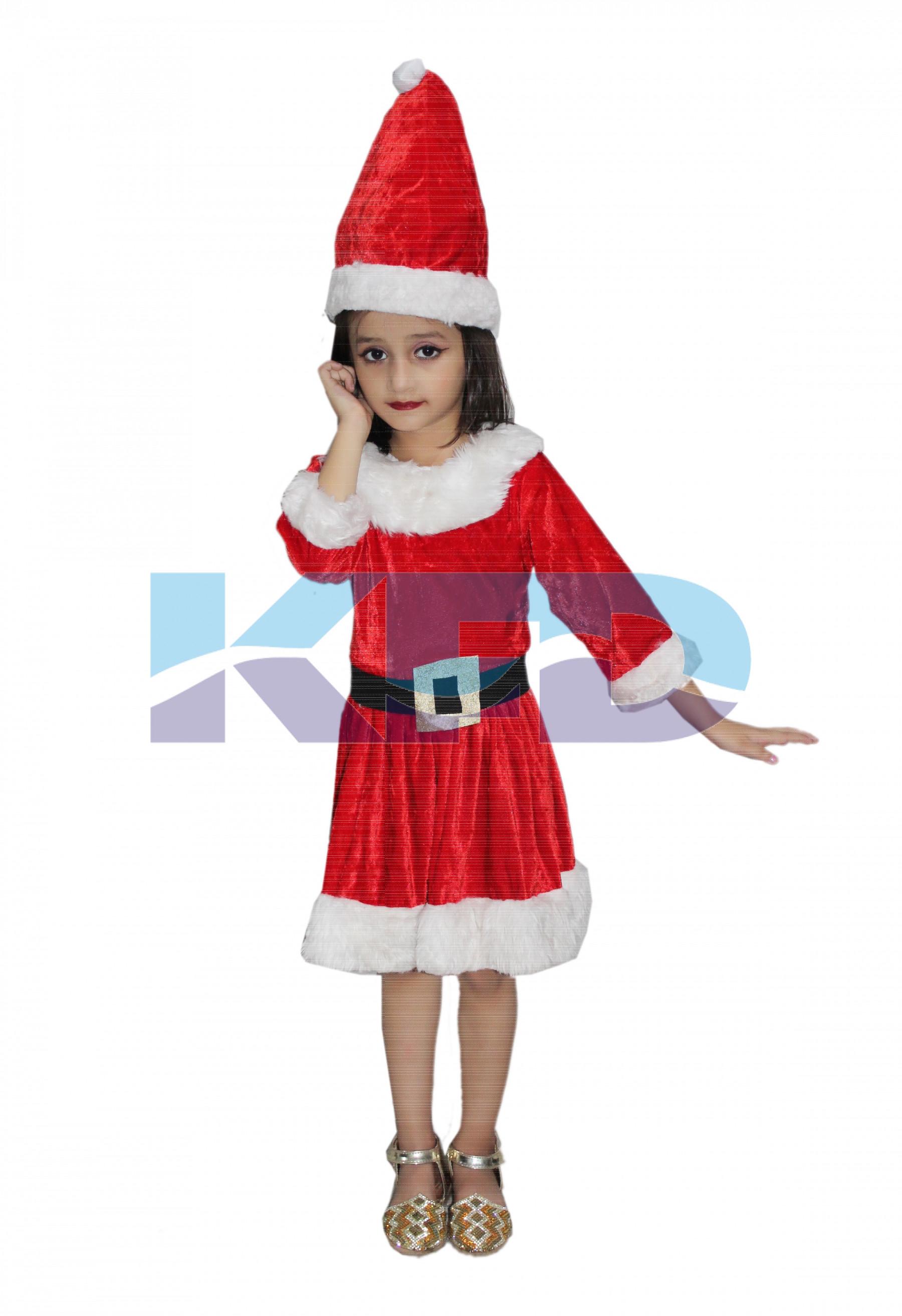 366657da143fc Santa Girl fancy dress for kids,Christmas Day costume for annual ...