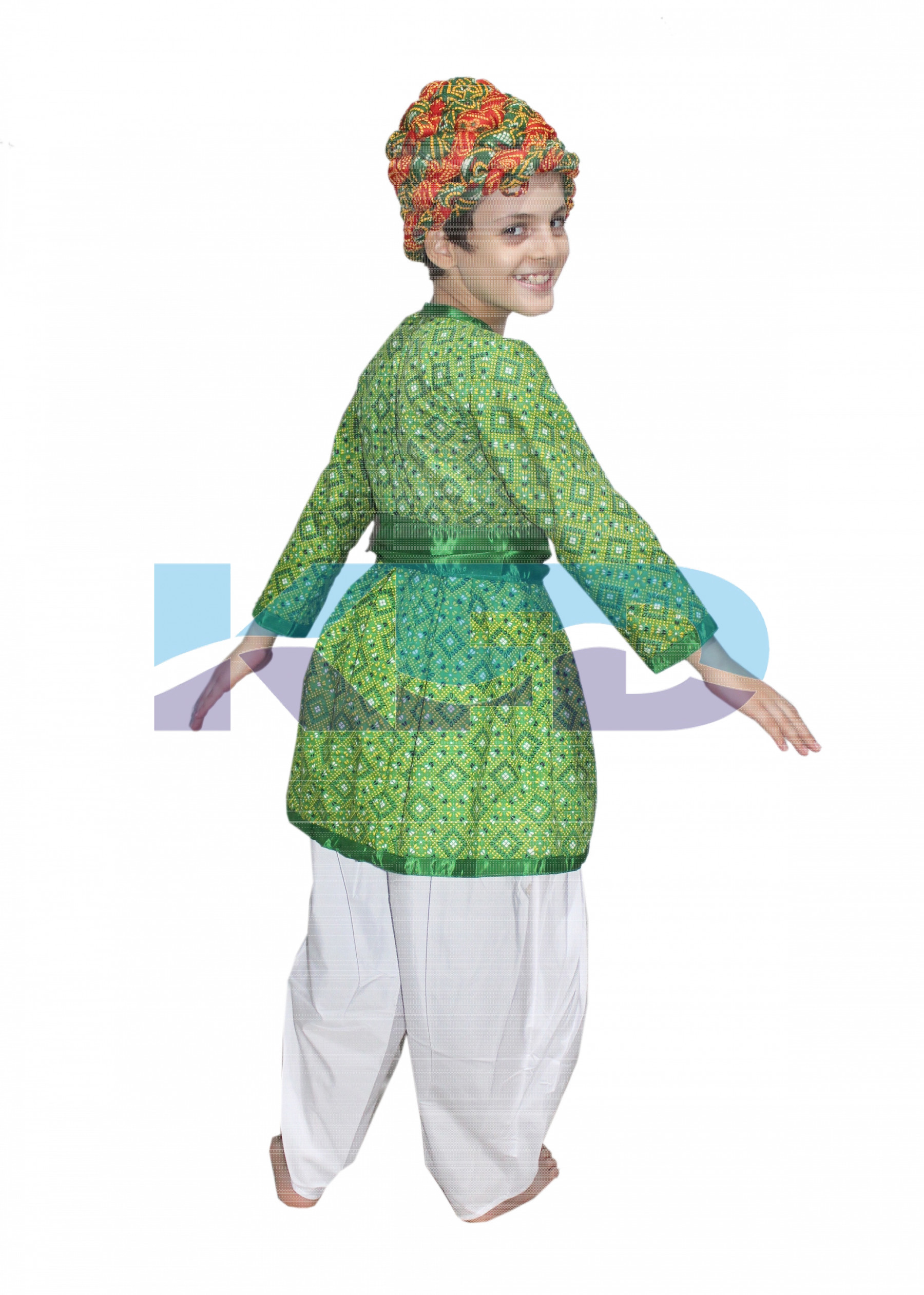 ba358ec58 Rajasthani Boy Green Color fancy dress for kids,Indian State ...