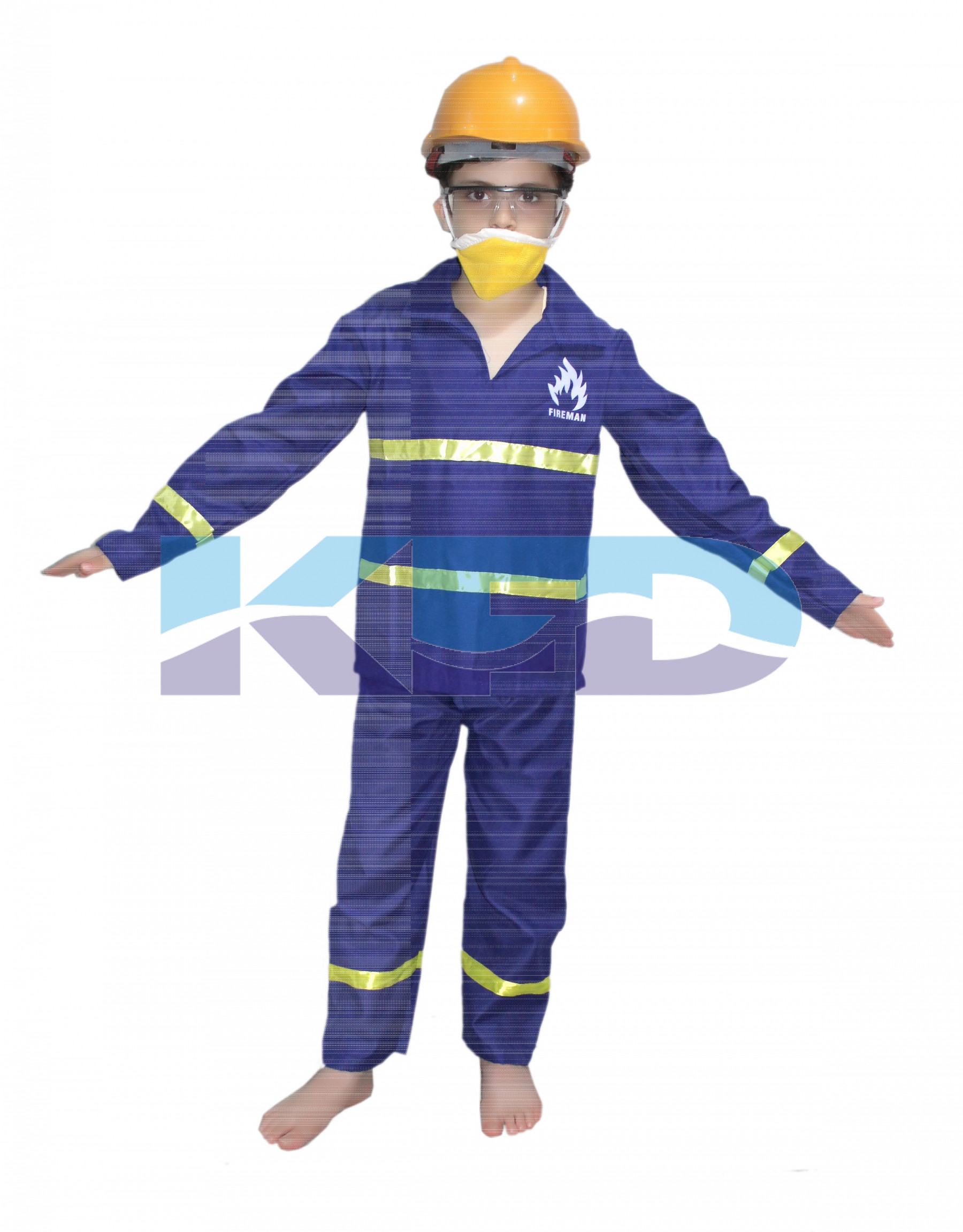 ba0b10c7736f Fire Man Fancy Dress For Kids,Our Helper Costume for Annual Function/Theme  Party/Competition/Stage Shows Dress