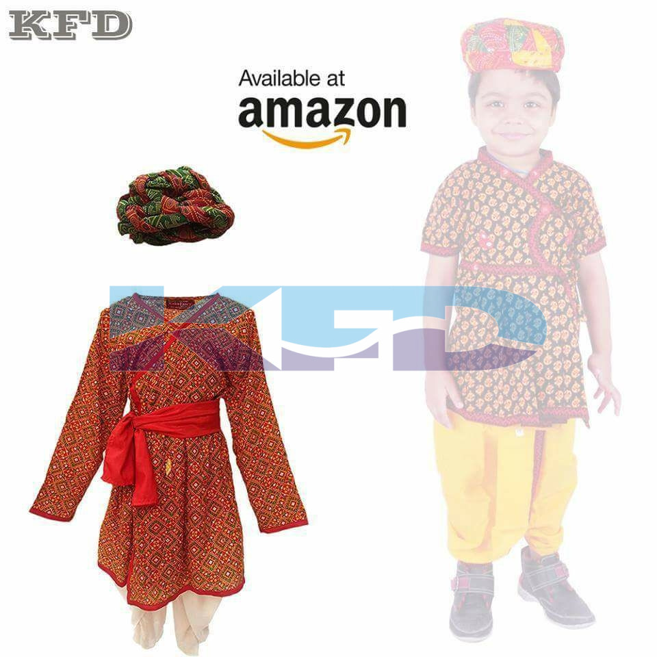 3ba760828 Rajasthani Boy Red Color fancy dress for kids,Indian State ...