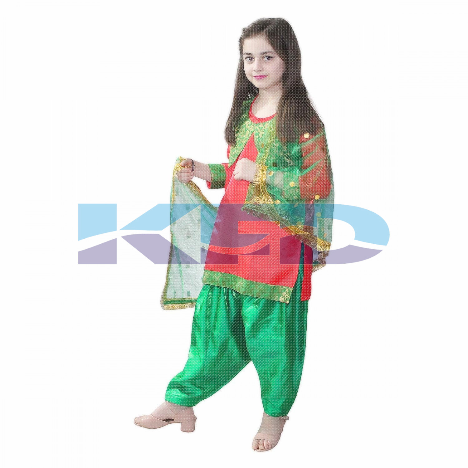 Punjabi Girl Fancy Dress For Kids Indian State Traditional Wear Costume For Annual Function Theme Party Competition Stage Shows Birthday Party Dress