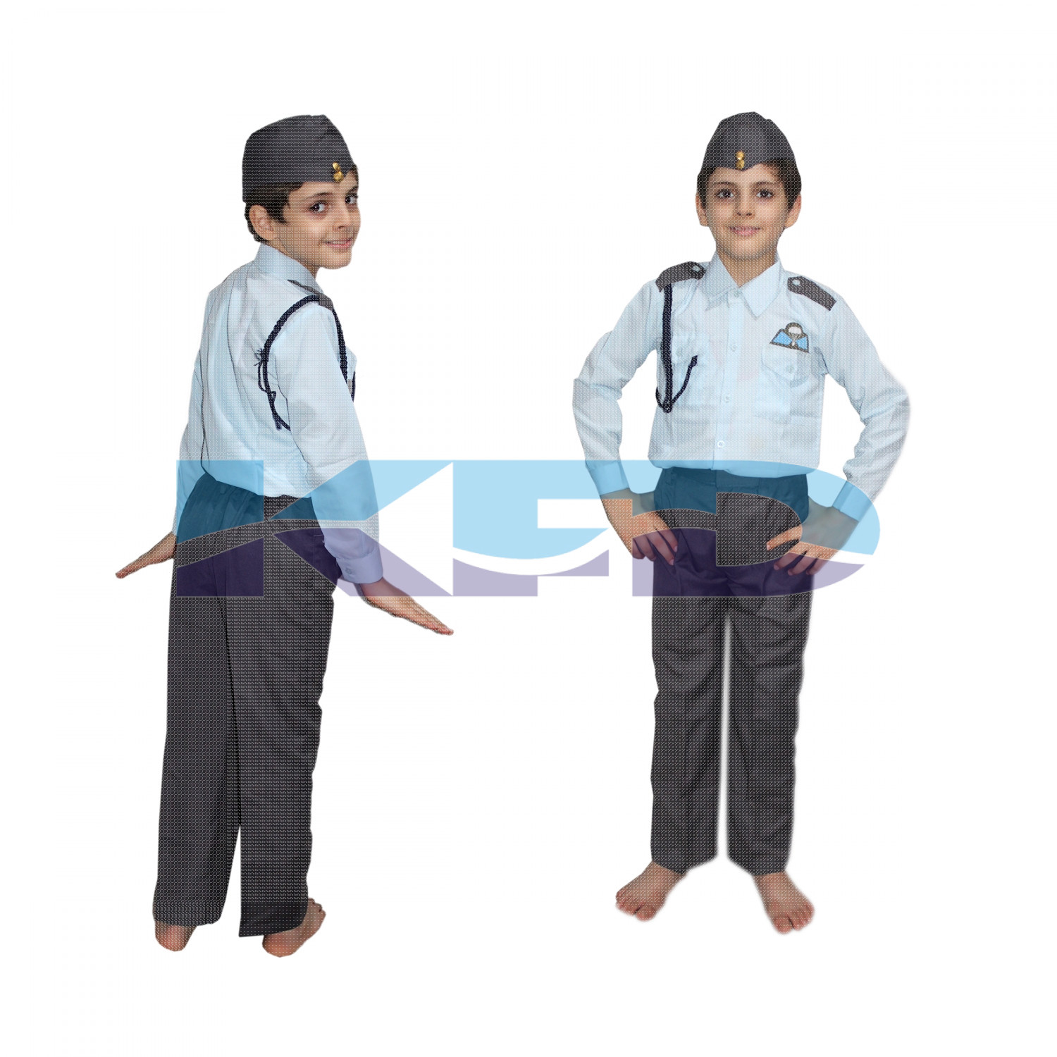Pilot Blue Fancy Dress For Kids,Our Helper Costume For Annual Function/Theme Party/Competition/Stage Shows Dress