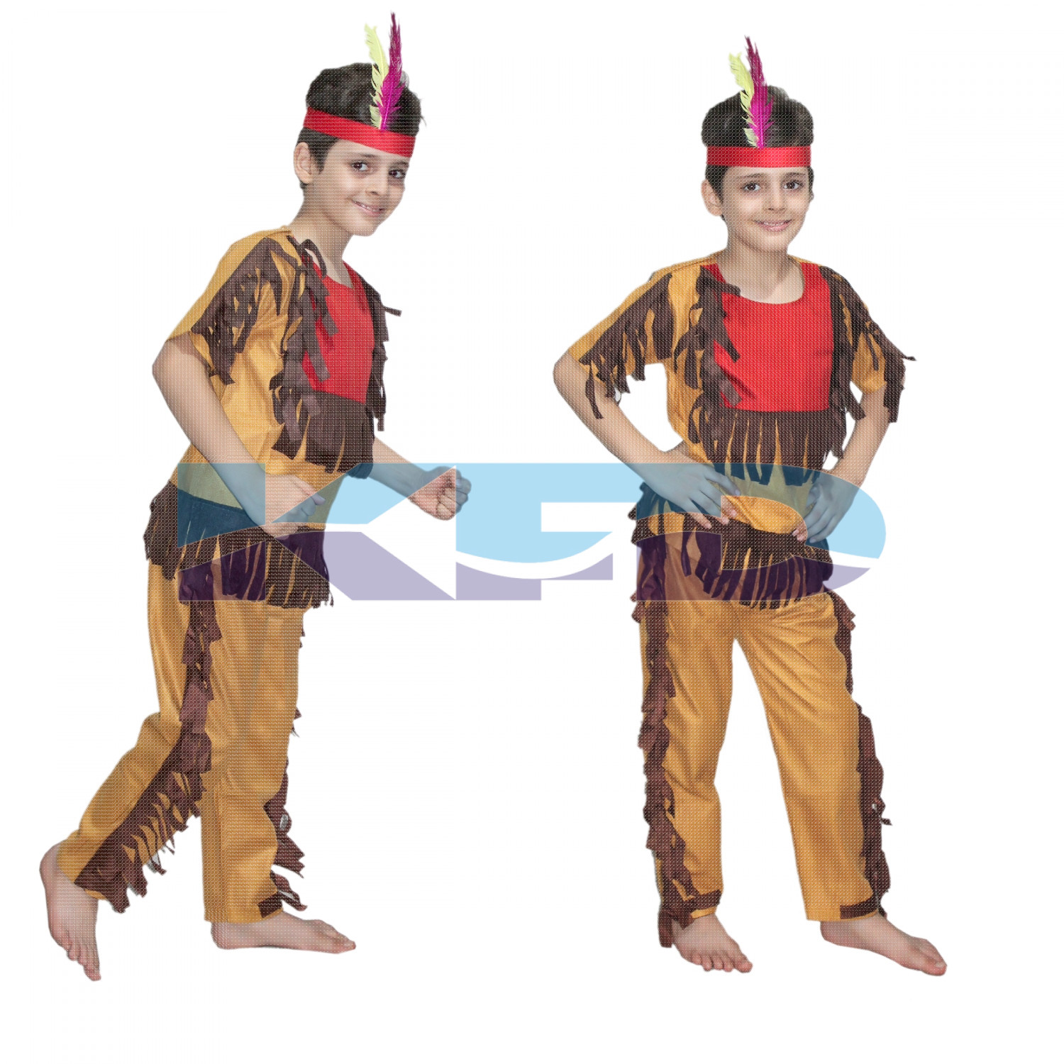 Red Indian fancy dress for kids,Trible Costume for Annual function/Theme Party/Competition/Stage Shows Dress