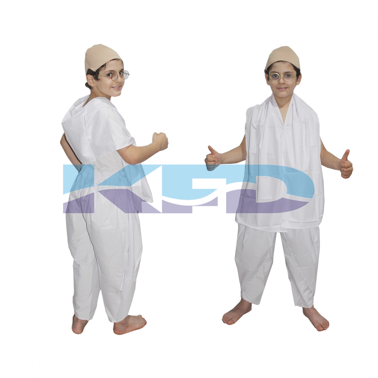Gandhi Ji fancy dress for kids,National Hero/freedom figter Costume for Independence Day/Republic Day/Annual function/Theme Party/Competition/Stage Shows Dress