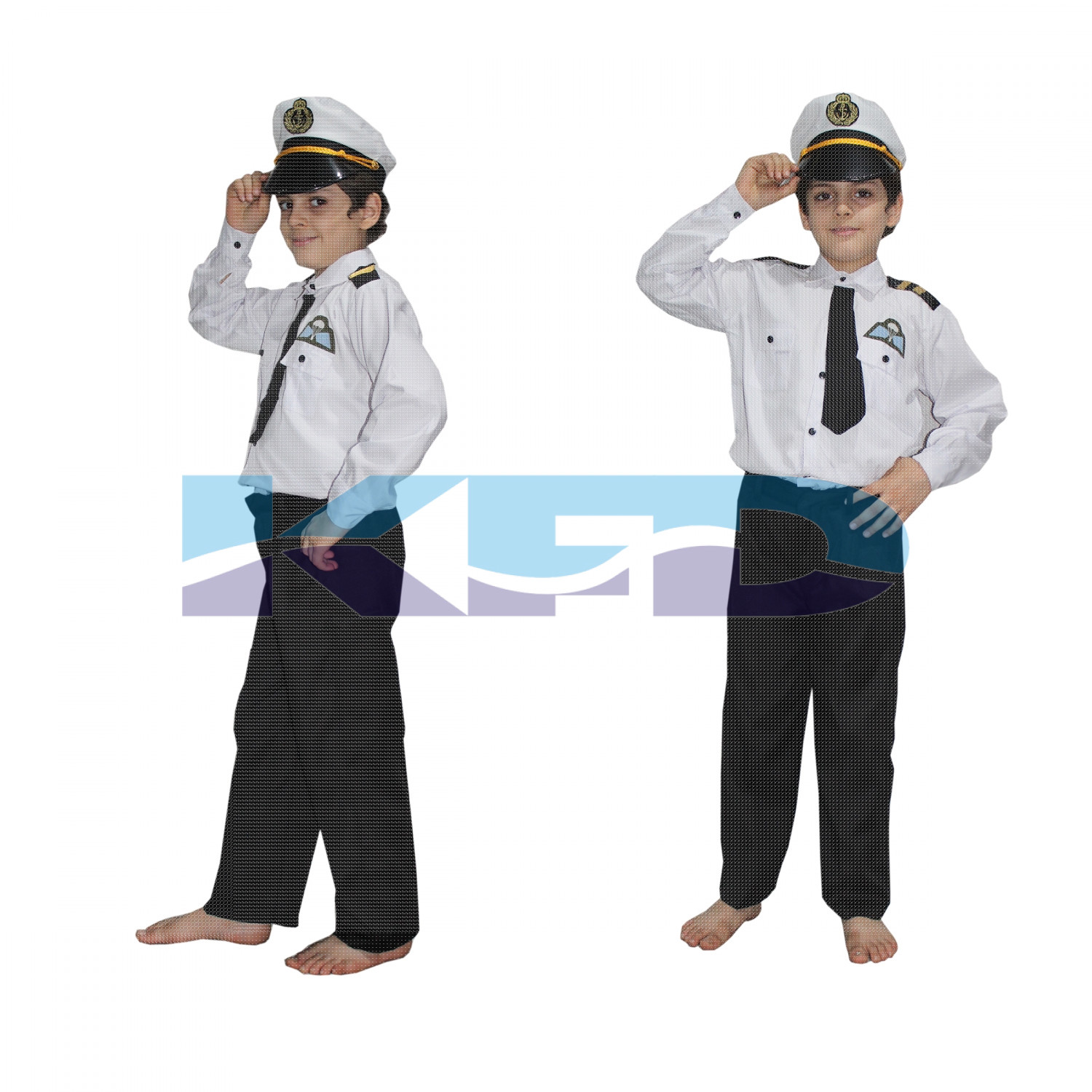 Pilot Black Fancy Dress For Kids,Our Helper Costume For Annual Function/Theme Party/Competition/Stage Shows Dress