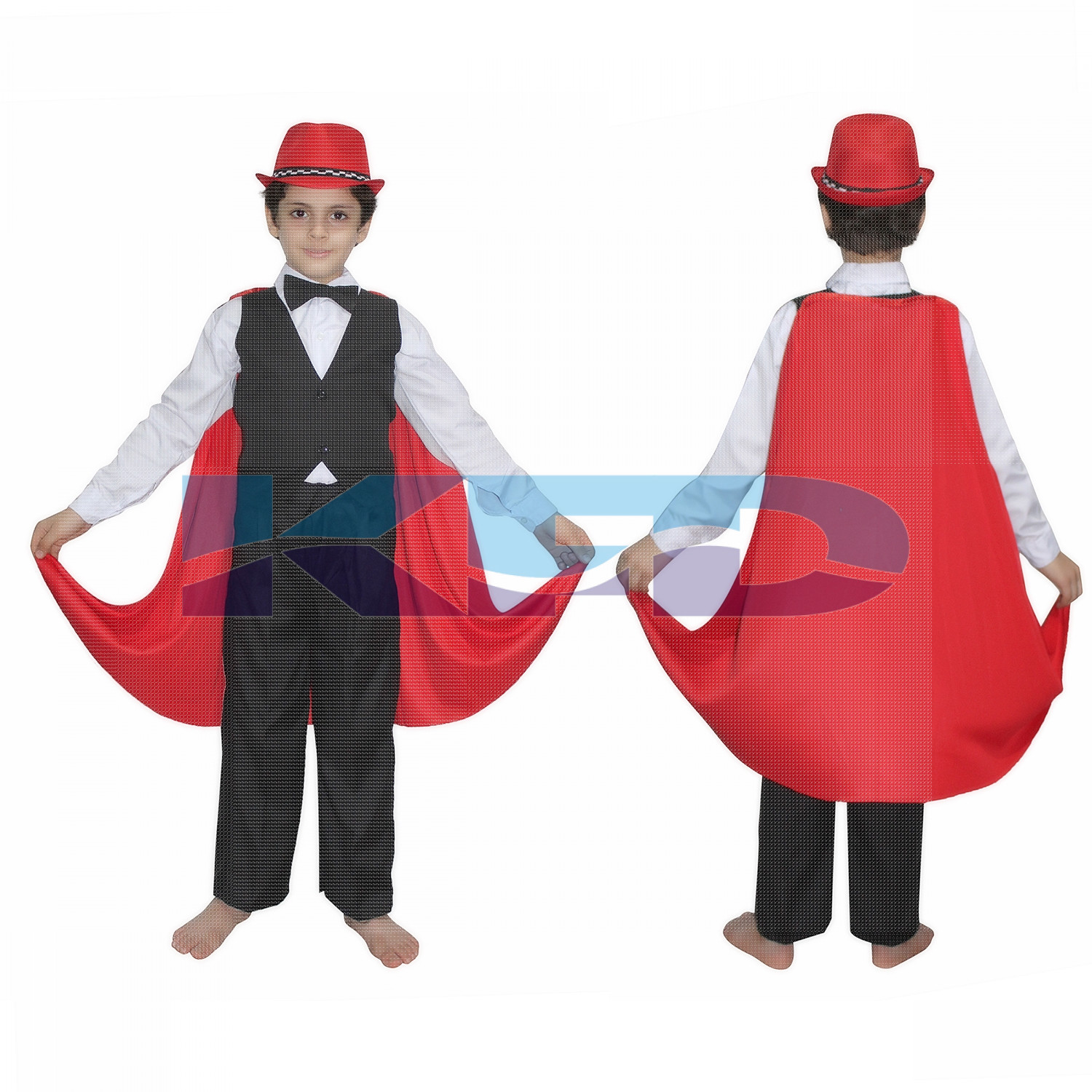 Magician Fancy dress for kids,Performer/Entertainer/Magical Shows Costume for Annual function/Theme Party/Competition/Stage Shows/Birthday Party Dress