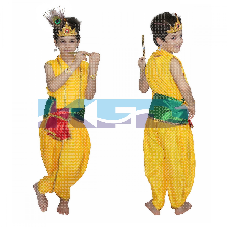 Bal Krishna fancy dress for kids,Krishna leela/Janmashtami/Kanha/Mythological Character for Annual function/Theme Party/Competition/Stage Shows Dress