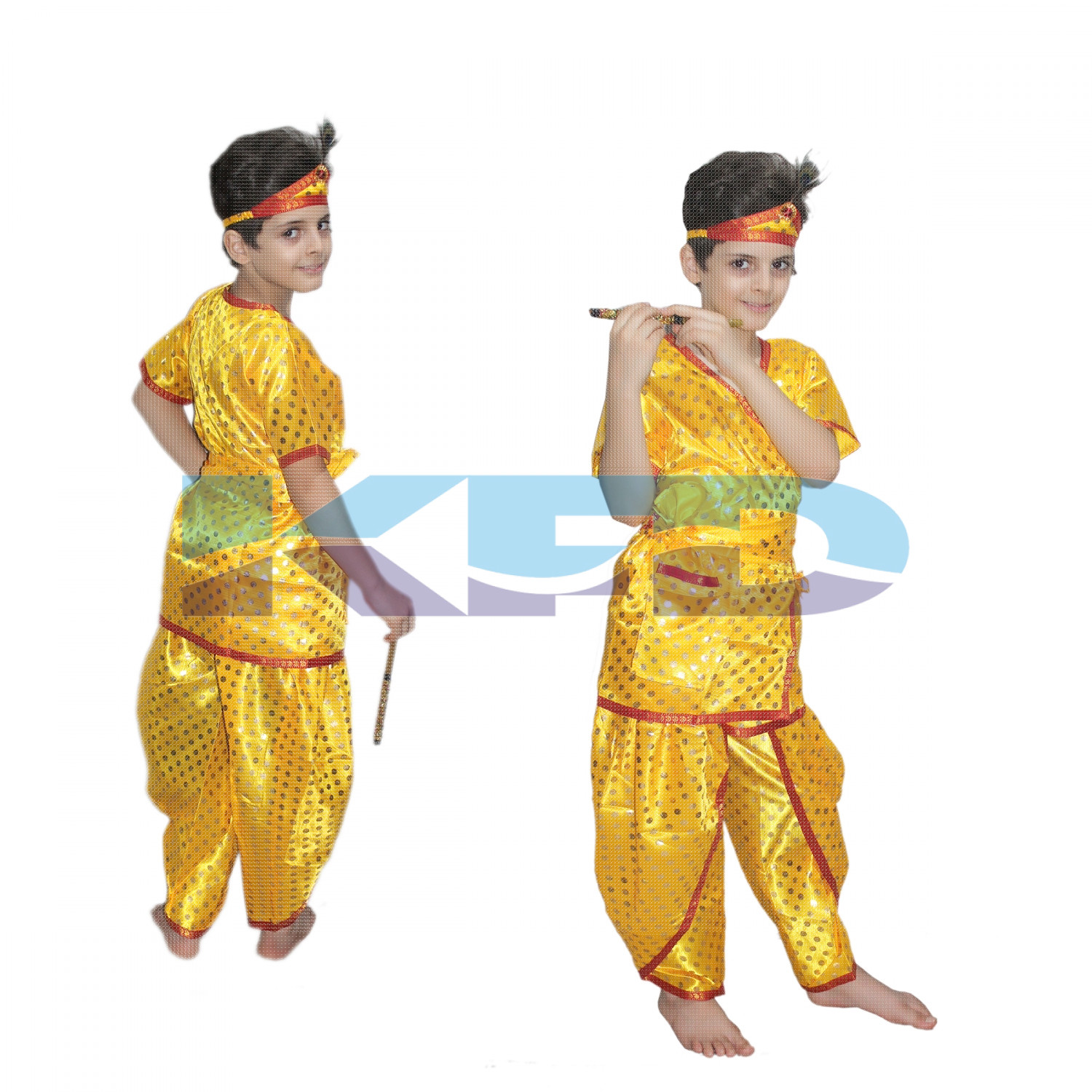 Krishna Dotted fancy dress for kids,Krishnaleela/Janmashtami/Kanha/Mythological Character for Annual functionTtheme Party/Competition/Stage Shows Dress