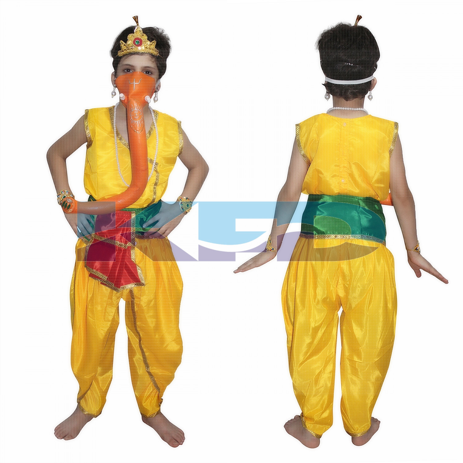 Lord Ganesha fancy dress for kids,Ramleela/Dussehra/Mythological Character for Annual function/Theme party/Competition/Stage Shows Dress