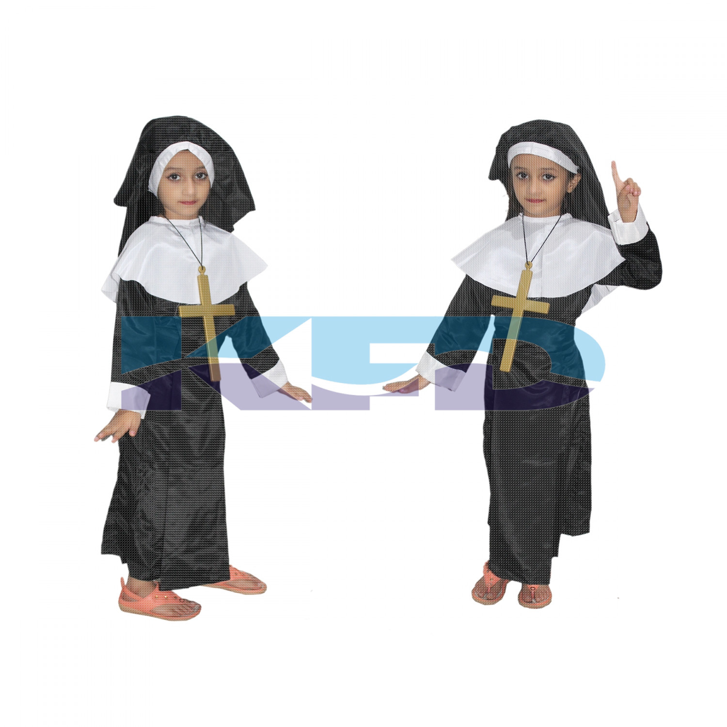 Nun Fancy Dress For Kids,Our Helper Costume For Annual Function/Theme Party/Competition/Stage Shows Dress