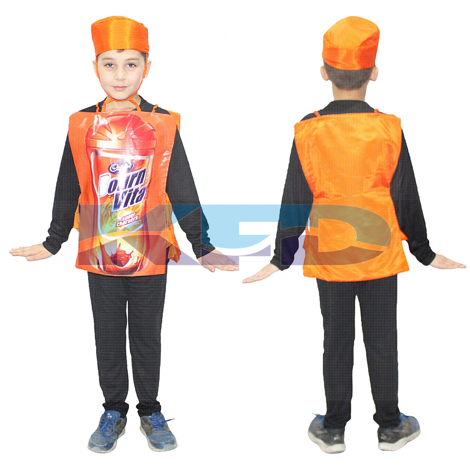 Bournvita fancy dress for kids,Object Costume for School Annual function/Theme Party/Competition/Stage Shows Dress