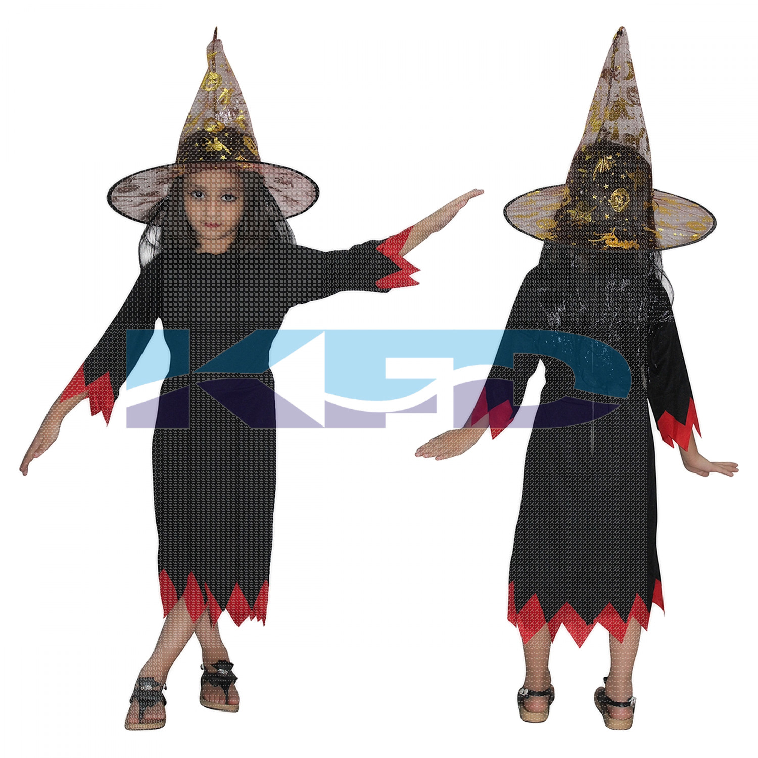 Black Witch Cosplay Halloween Costume For Kids School Annual Function 3 to 18 years