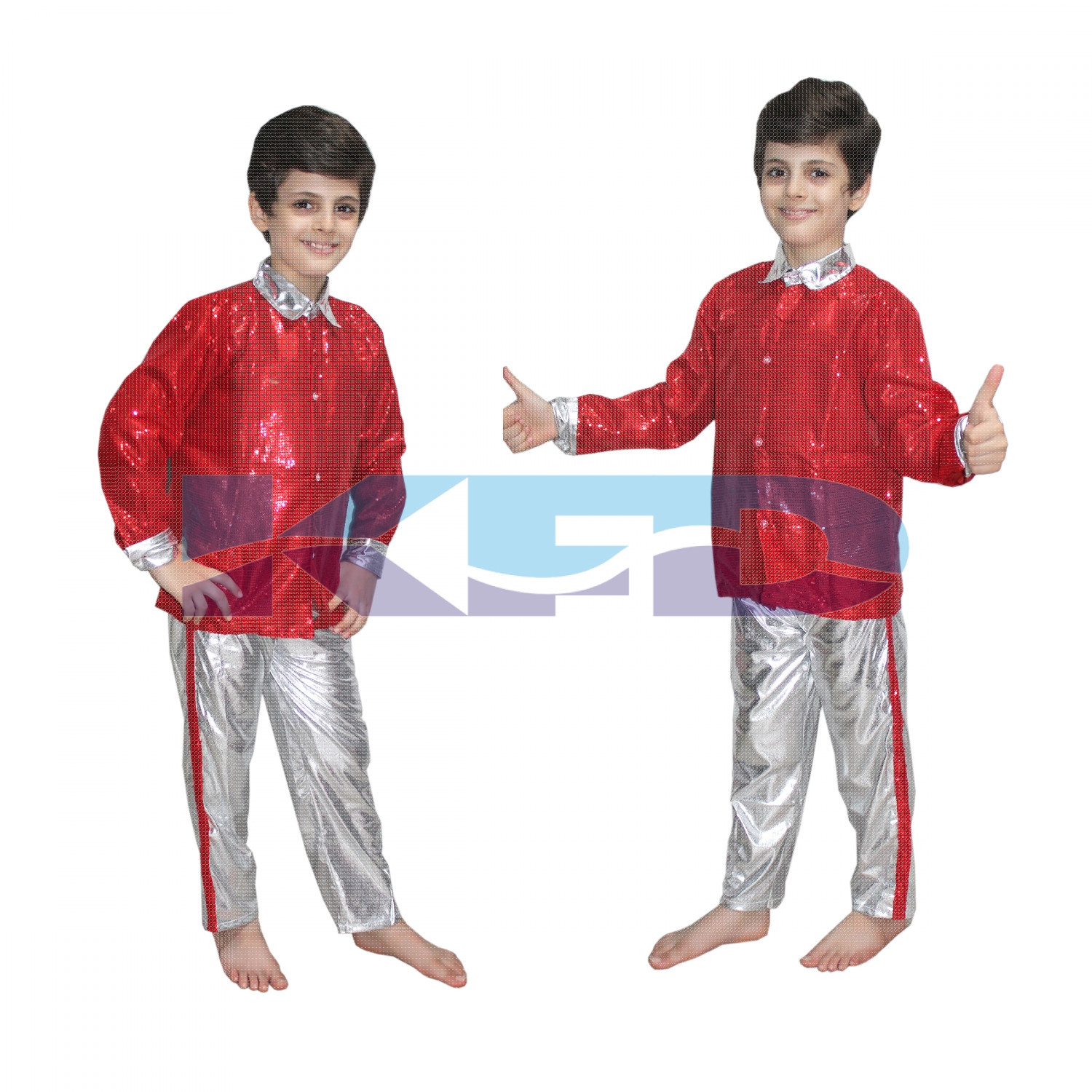Red shirt Silver Pant