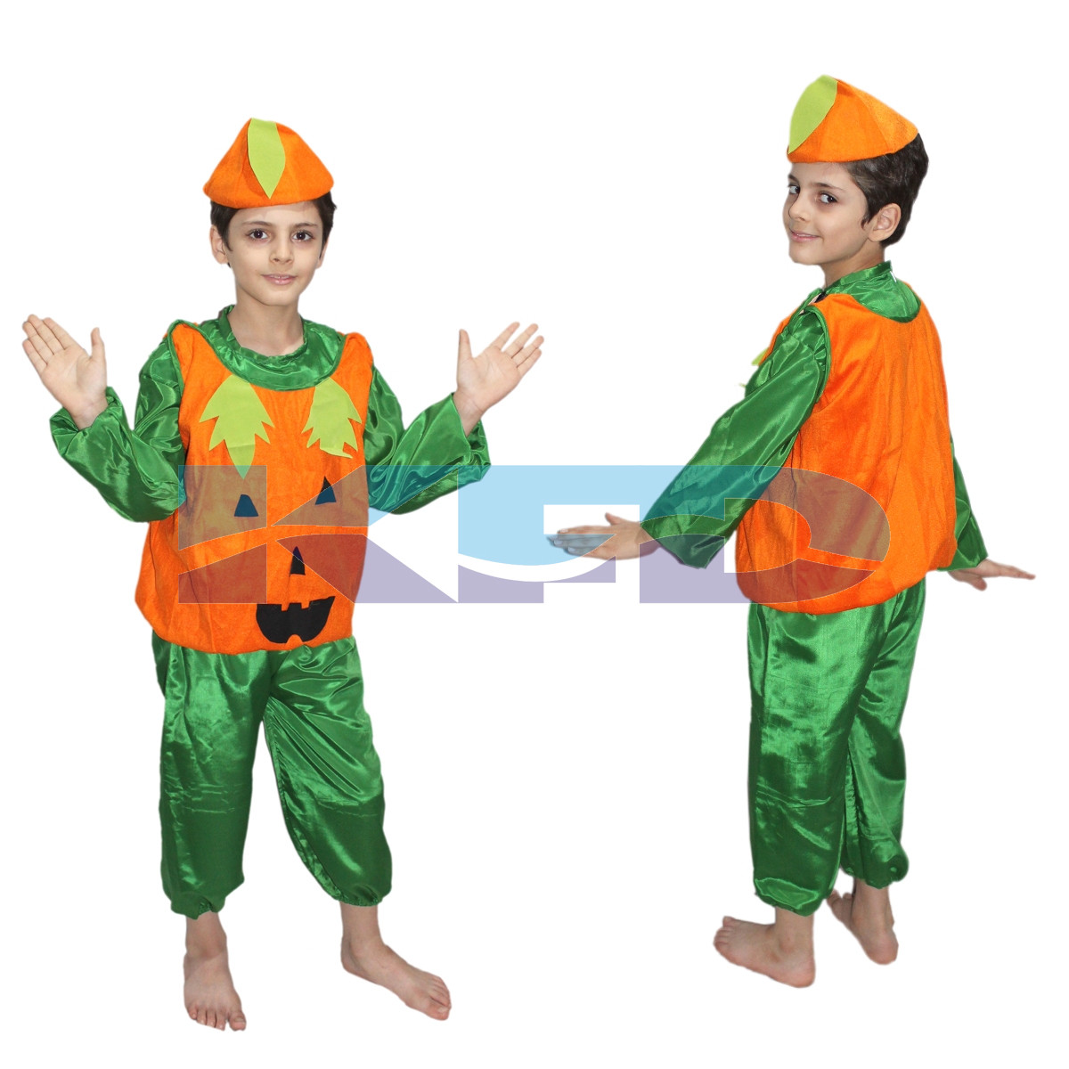 Pumpkin fancy dress for kids,Vegetables Costume for School Annual function/Theme Party/Competition/Stage Shows Dress