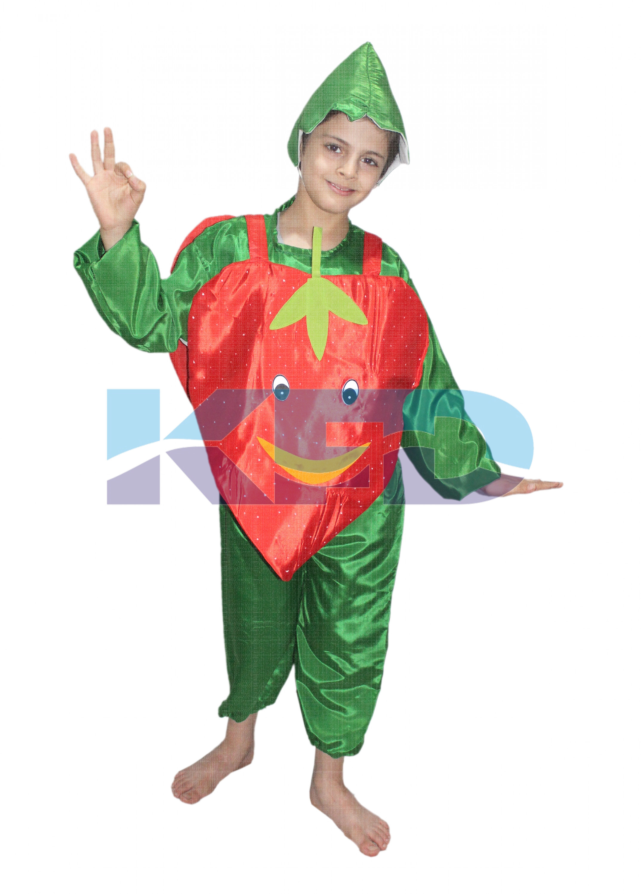 Strawberry fancy dress for kids,Fruits Costume for Annual function/Theme Party/Competition/Stage Shows Dress