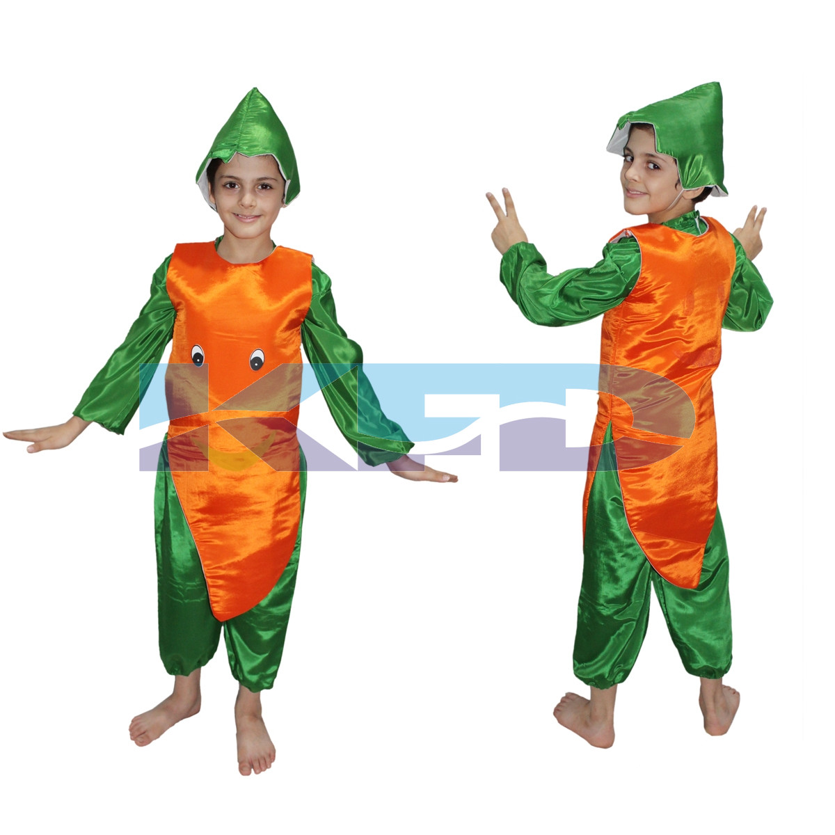 Carrot fancy dress for kids,Fruits Costume for School Annual function/Theme Party/Competition/Stage Shows Dress