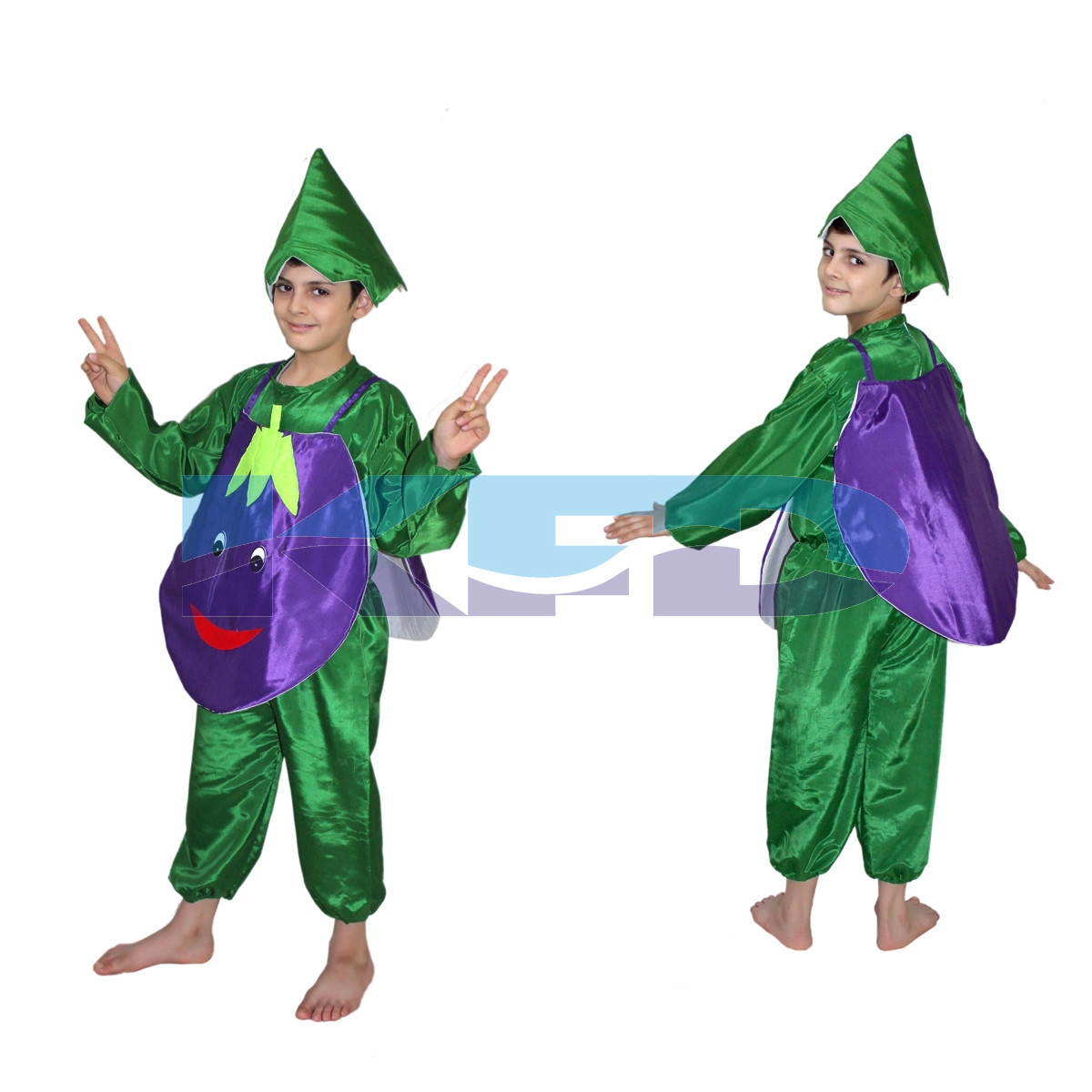 Brinjal fancy dress for kids,Vegetables Costume for School Annual function/Theme Party/Competition/Stage Shows Dress