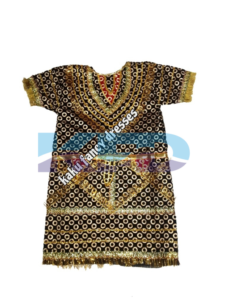Black Gown Ravan/kans Gown Costume of Ramleela/Dussehra/Mythological Character For Kids School Annual function/Theme Party/Competition/Stage Shows Dress