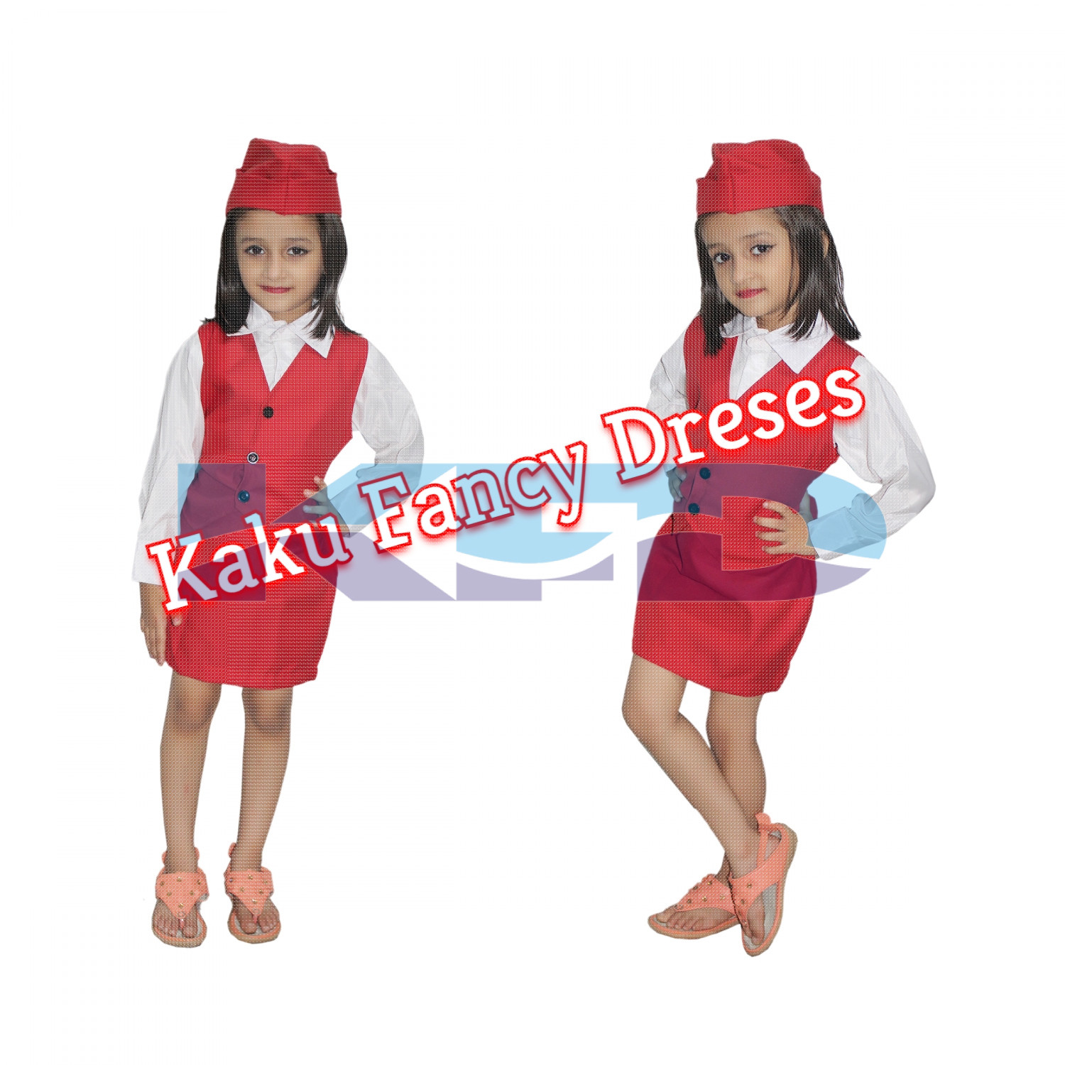 Air Hostress fancy dress for kids,Our Helper costume for Annual function/Theme Party/Competition/Stage Shows Dress