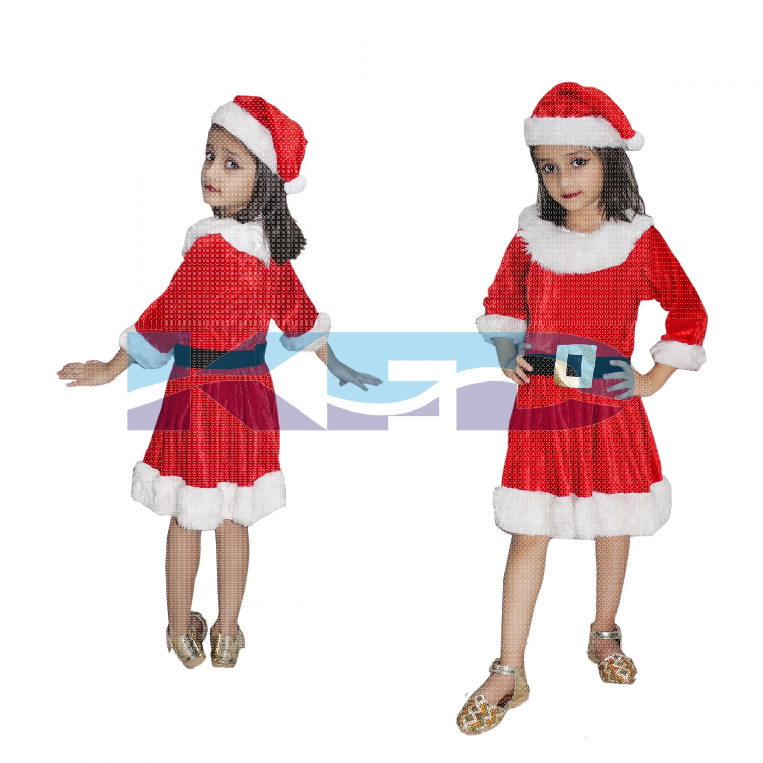 Santa Girl fancy dress for kids,Christmas Day costume for annual function/theme party/competition/Stage Shows/Birthday Party Dress