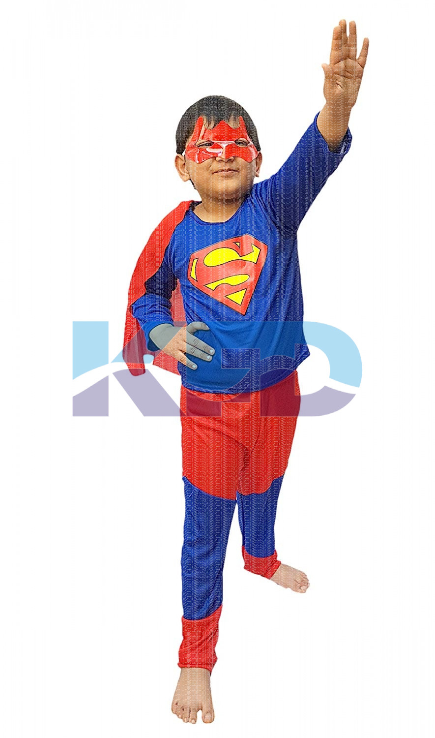 Superman Hero Costume CosPlay/California Costume For Kids School Annual function/Theme Party/Competition/Stage Shows/Birthday Party Dress (Full Size)