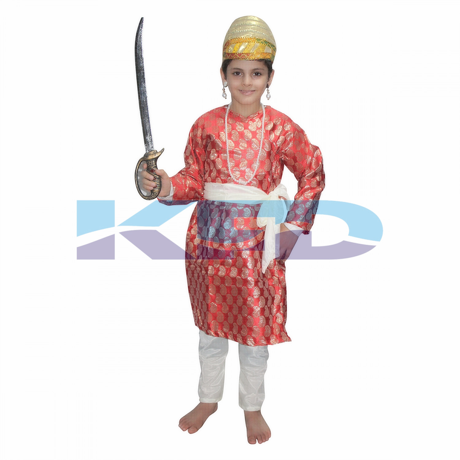 Shiva ji Red fancy dress for kids,National Hero Costume for Annual function/Theme Party/Competition/Stage Shows/Birthday Party Dress