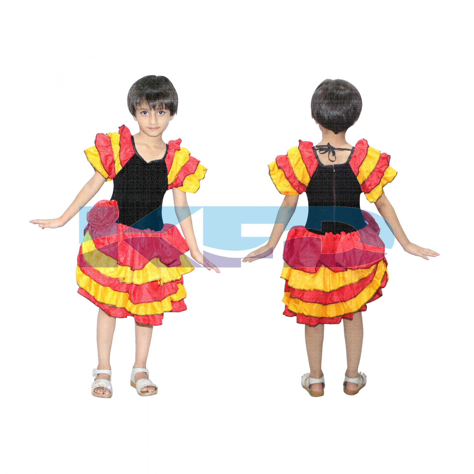 Flamingo Girl fancy dress for kids,Western Costume for Annual function/Theme Party/Competition/Stage Shows/Birthday Party Dress/flamingo dance/laten dance/salsa dance