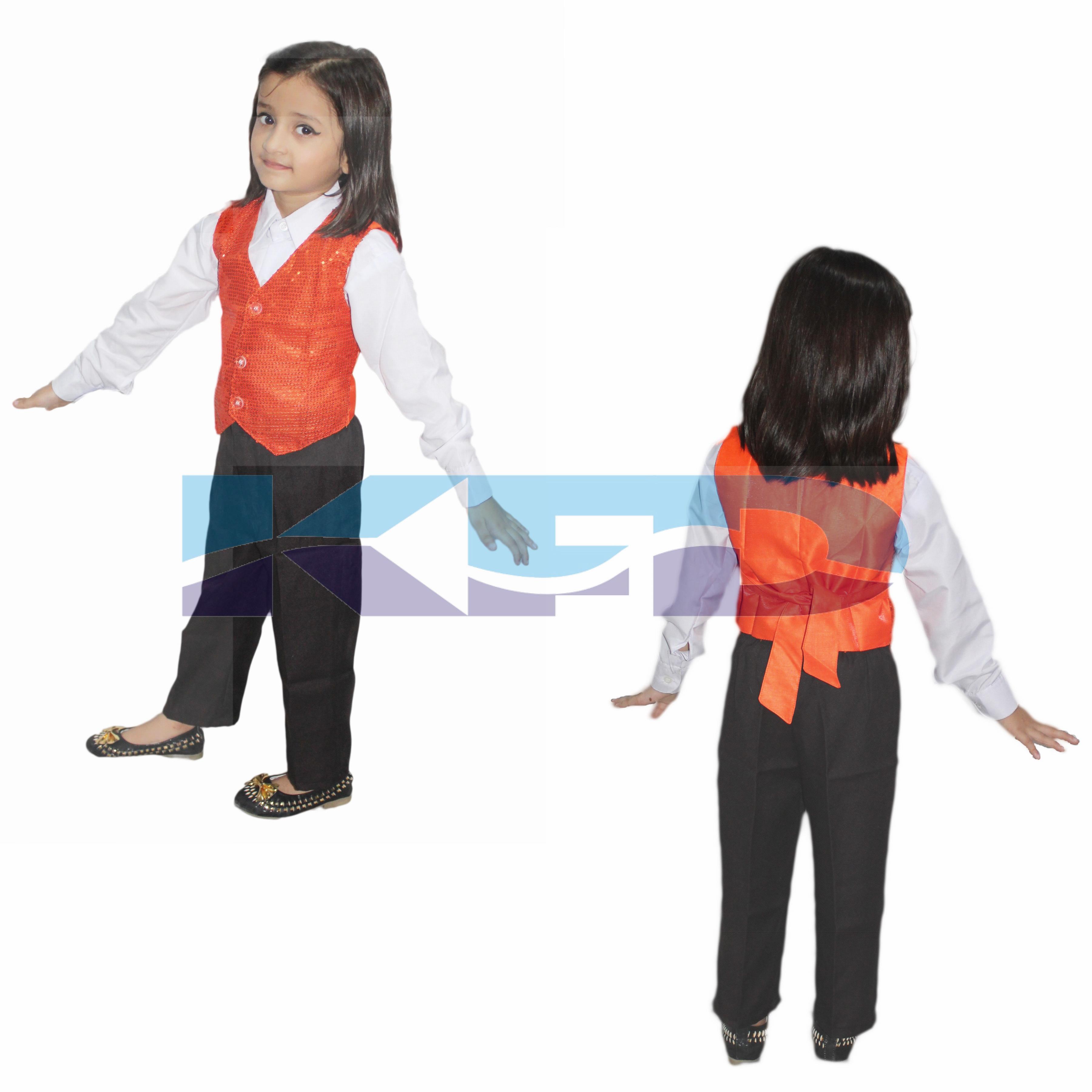 Waist Coat Orange