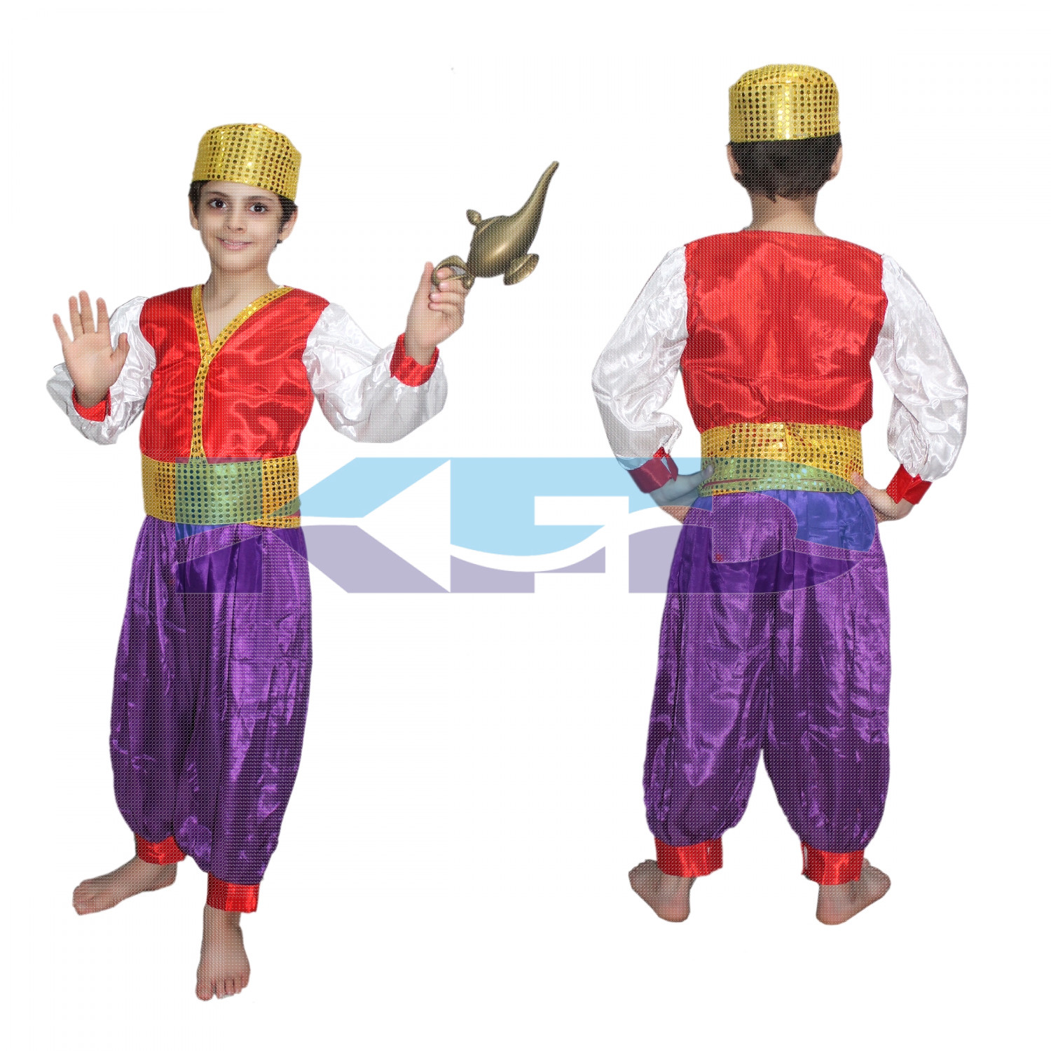 Aladdin Fancy dress for kids,Fairy Teles,Story book Costume for Annual function/Theme Party/Competition/Stage Shows/Birthday Party Dress