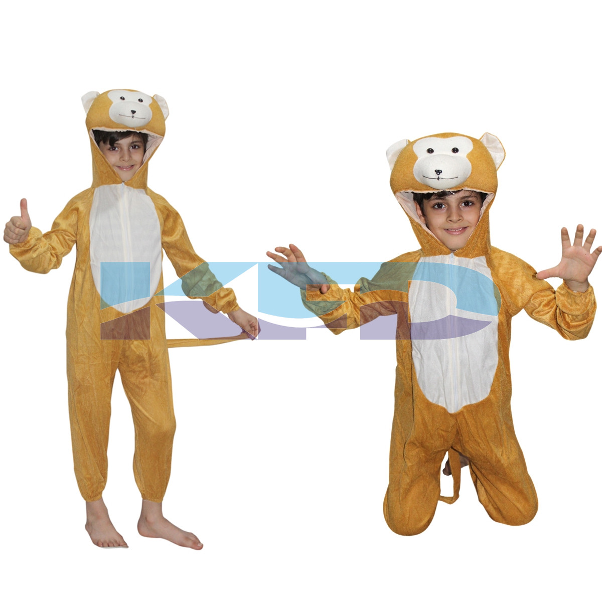 Monkey fancy dress for kids,Wild Animal Costume for Annual function/Theme Party/Competition/Stage Shows/Birthday Party Dress