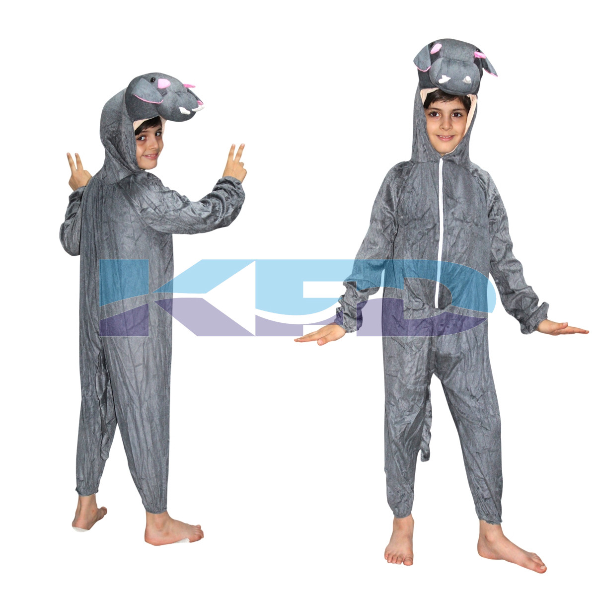 Hippo fancy dress for kids,Water Animal Costume for School Annual function/Theme Party/Competition/Stage Shows Dress