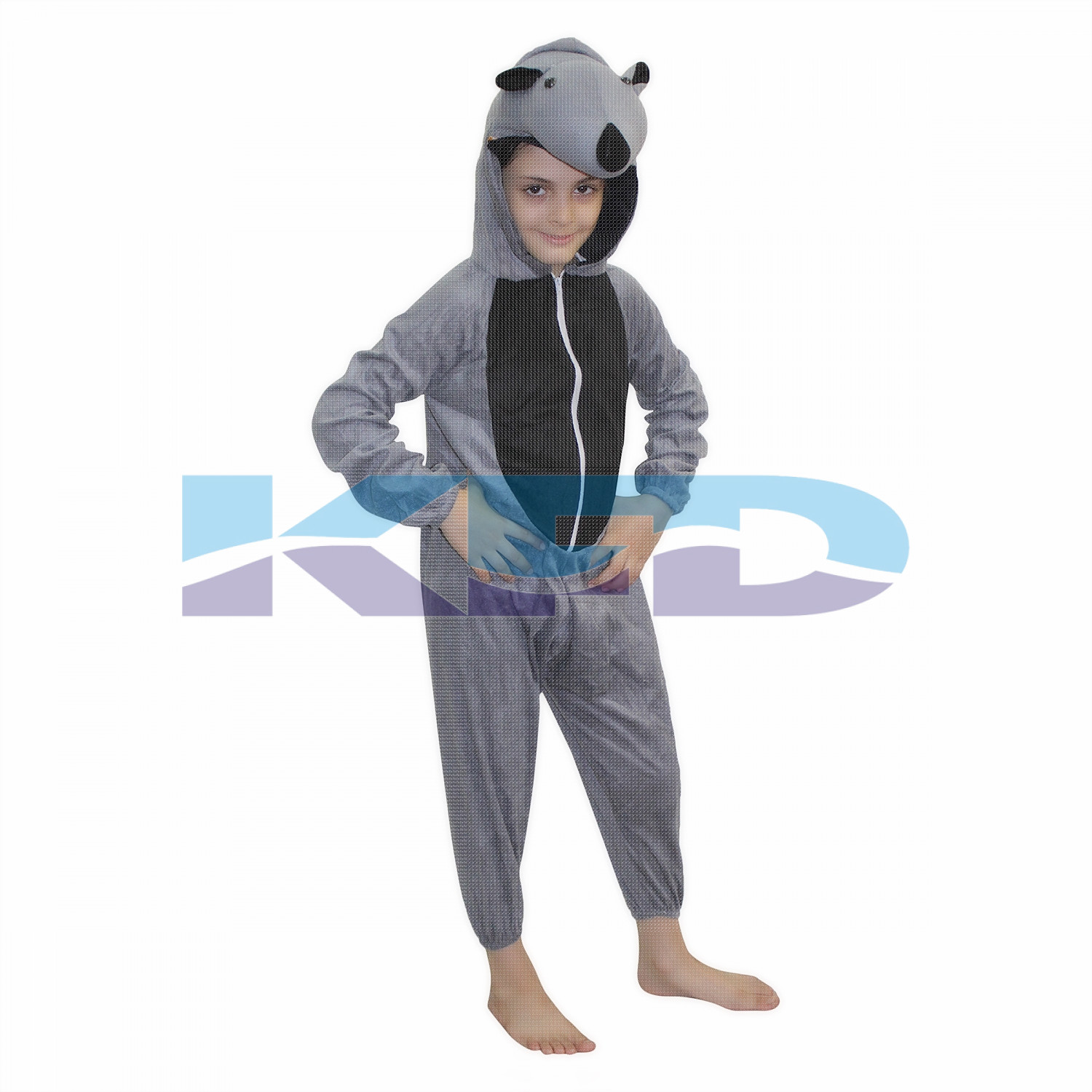 Rhino fancy dress for kids,Wild Animal Costume for School Annual function/Theme Party/Competition/Stage Shows Dress