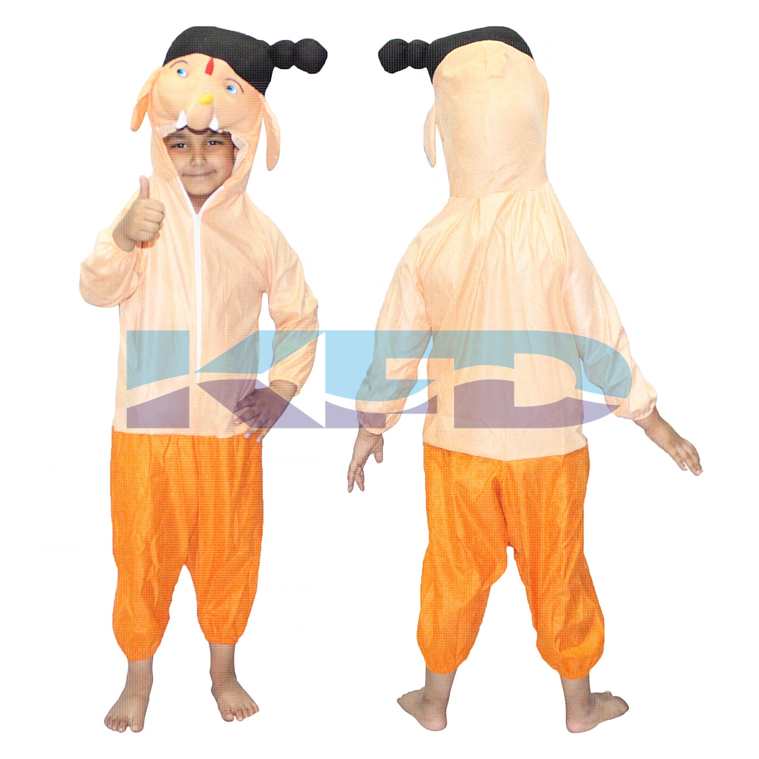 Bal Ganesha Fancy dress for kids,Cartoon/Super Hero Costume for Annual function/Theme Party/Stage Shows/Competition/Birthday Party Dress