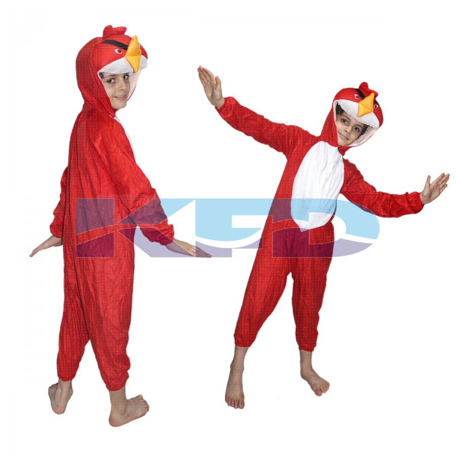 Angry bird Fancy dress for kids,Diseny Cartoon Costume for Annual function/Theme Party/Stage Shows/Competition/Birthday Party Dress