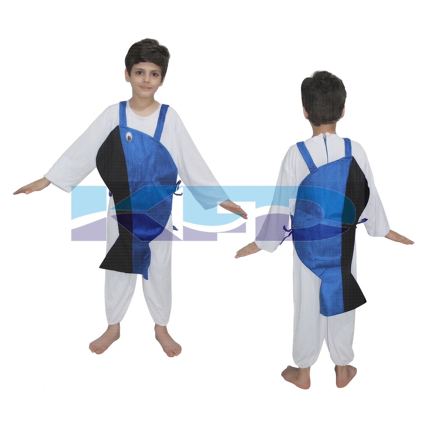 Whale Fish fancy dress for kids,Insect Costume for School Annual function/Theme Party/Competition/Stage Shows Dress