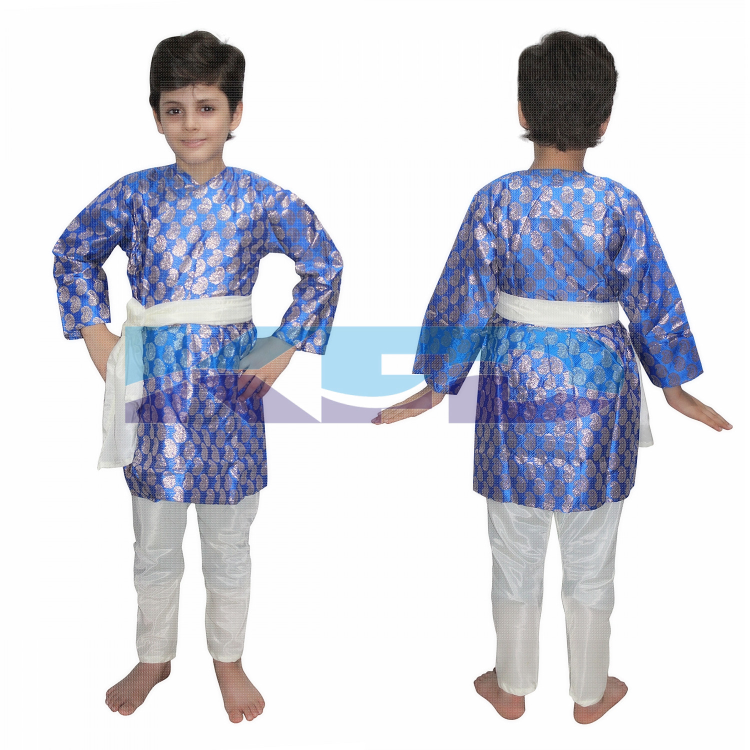 Gujrati Boy Blue Color fancy dress for kids,Indian State Traditional Wear for Annual function/Theme party/Competition/Stage Shows Dress