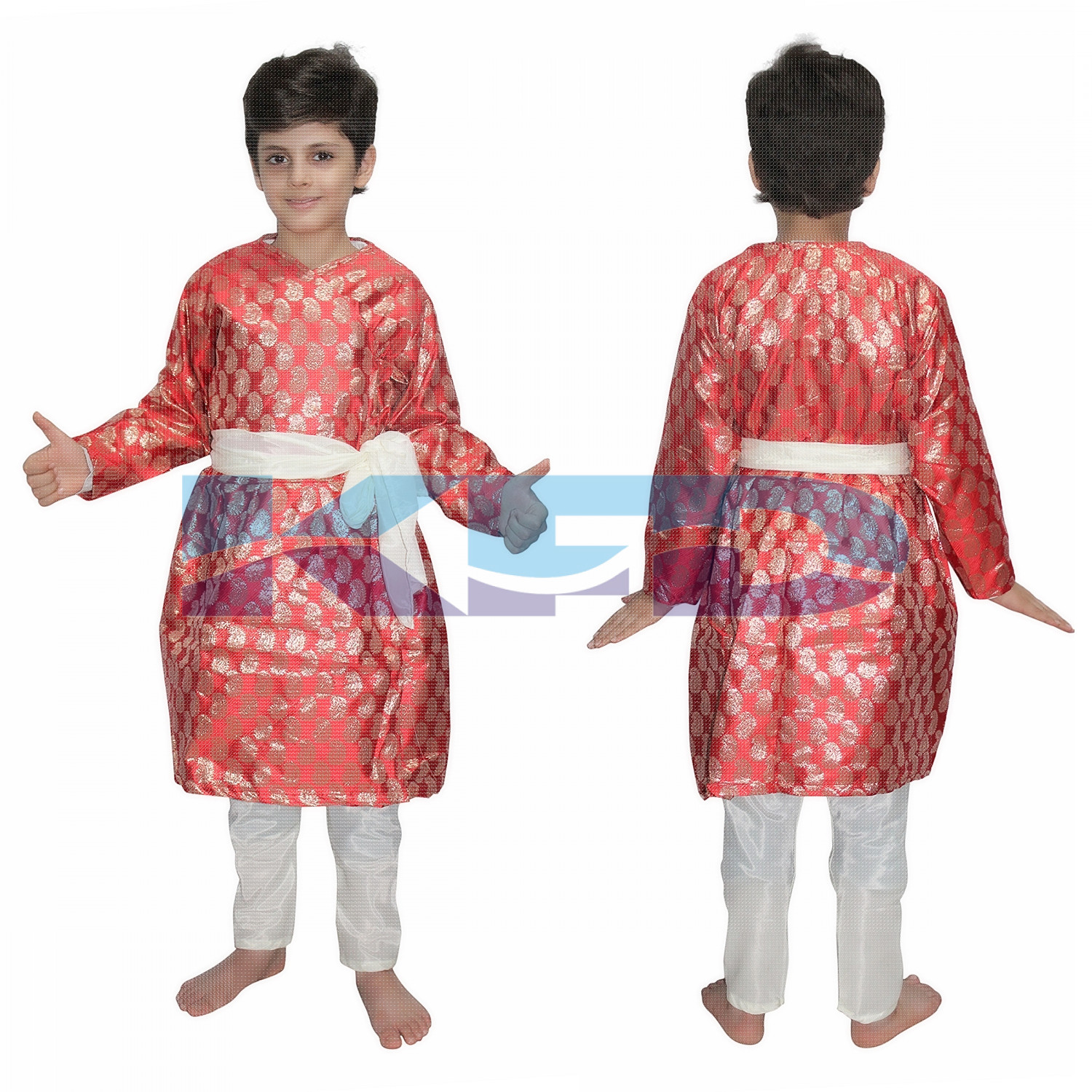Gujrati Boy Red Color fancy dress for kids,Indian State Traditional Wear for Annual function/Theme party/Competition/Stage Shows Dress