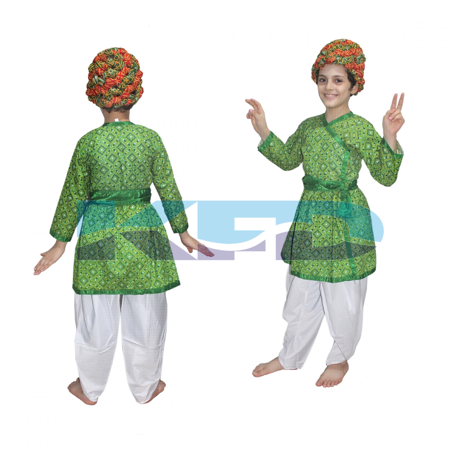 728ee016c Rajasthani Boy Green Color fancy dress for kids,Indian State Traditional  Wear for Annual function/Theme party/Competition/Stage Shows Dress