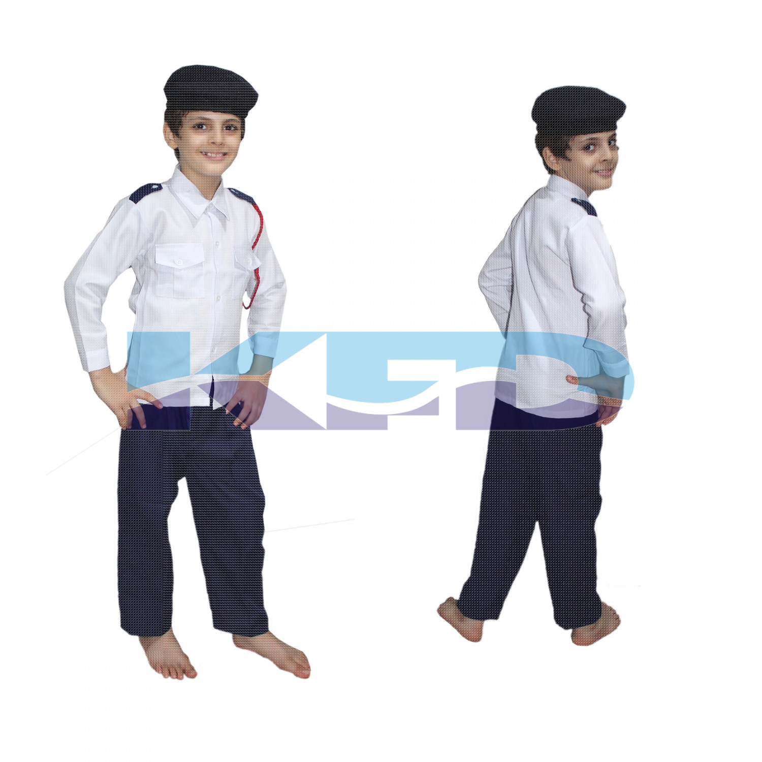 Trafic Police Fancy Dress For Kids,Our Helper Costume For Annual Function/Theme Party/Competition/Stage Shows Dress