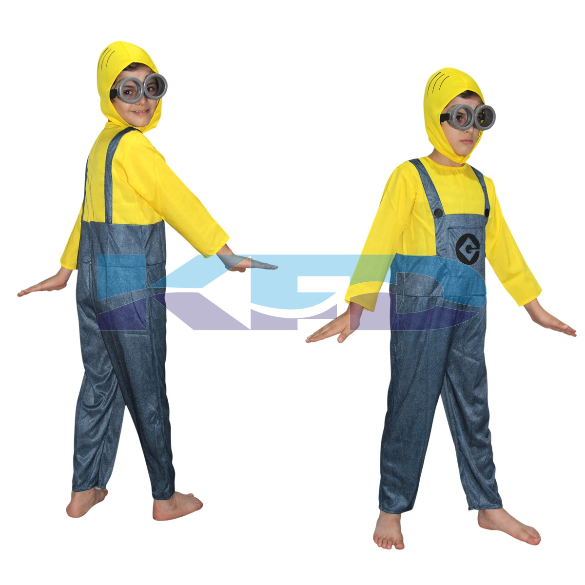 Minnion Fancy dress for kids,Diseny Cartoon Costume for Annual function/Theme Party/Stage Shows/Competition/Birthday Party Dress