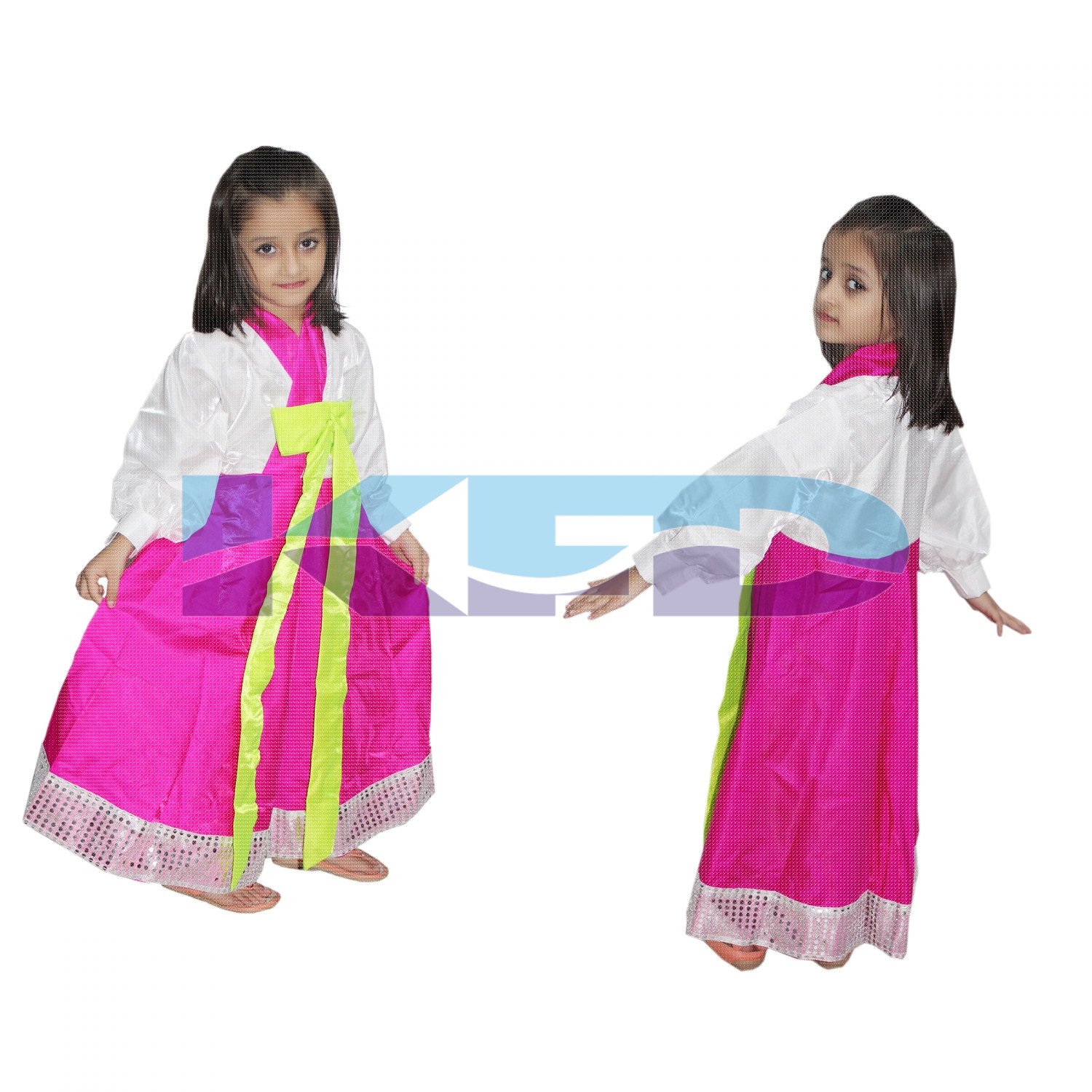 Korean Girl fancy dress for kids,International Traditional Wear for Annual function/Theme Party/Competition/Stage Shows/Birthday Party Dress