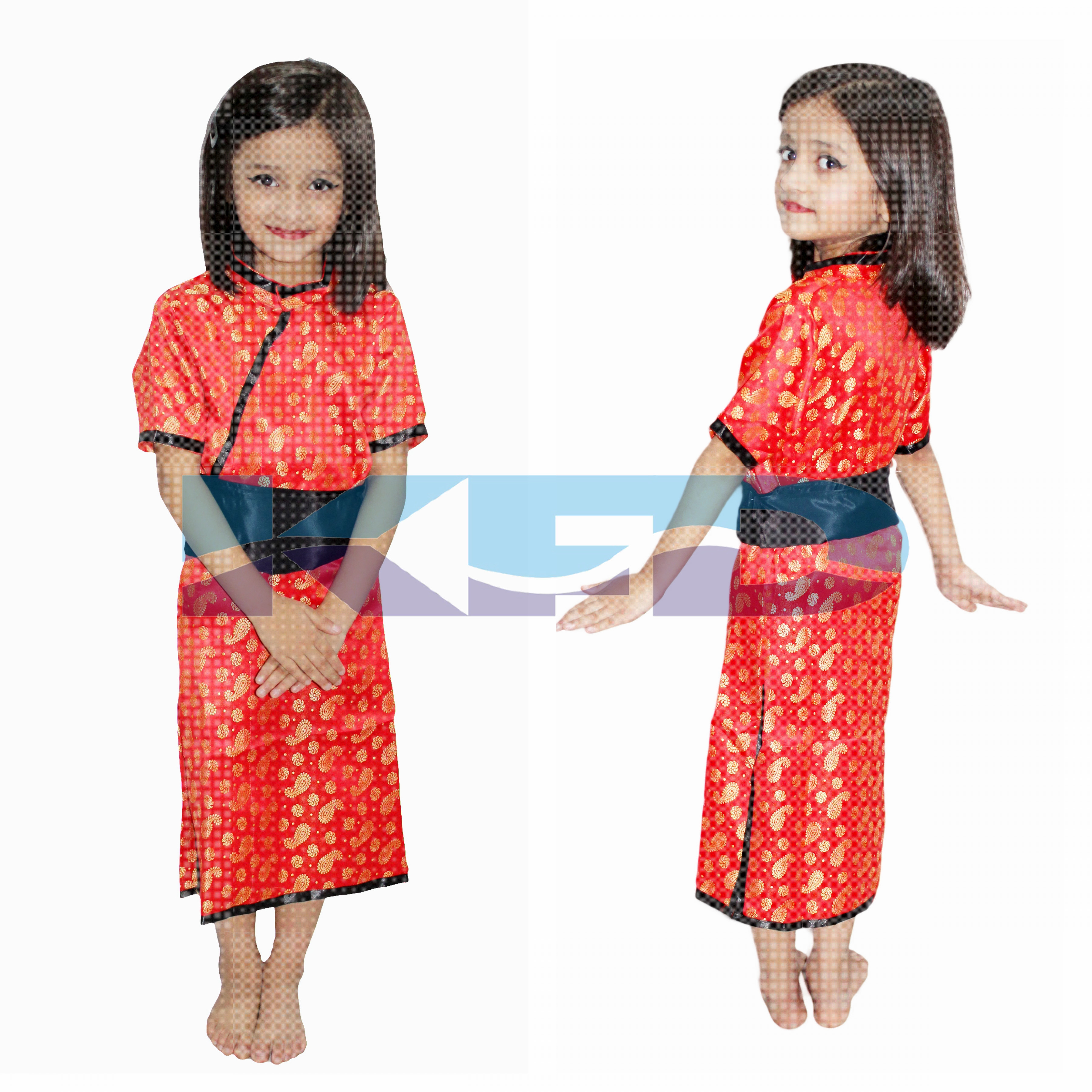 Chinese Girl Traditional wear fancy dress for kids,Global costume for annual function/theme party/Shows/Competition/Birthday Party Dress