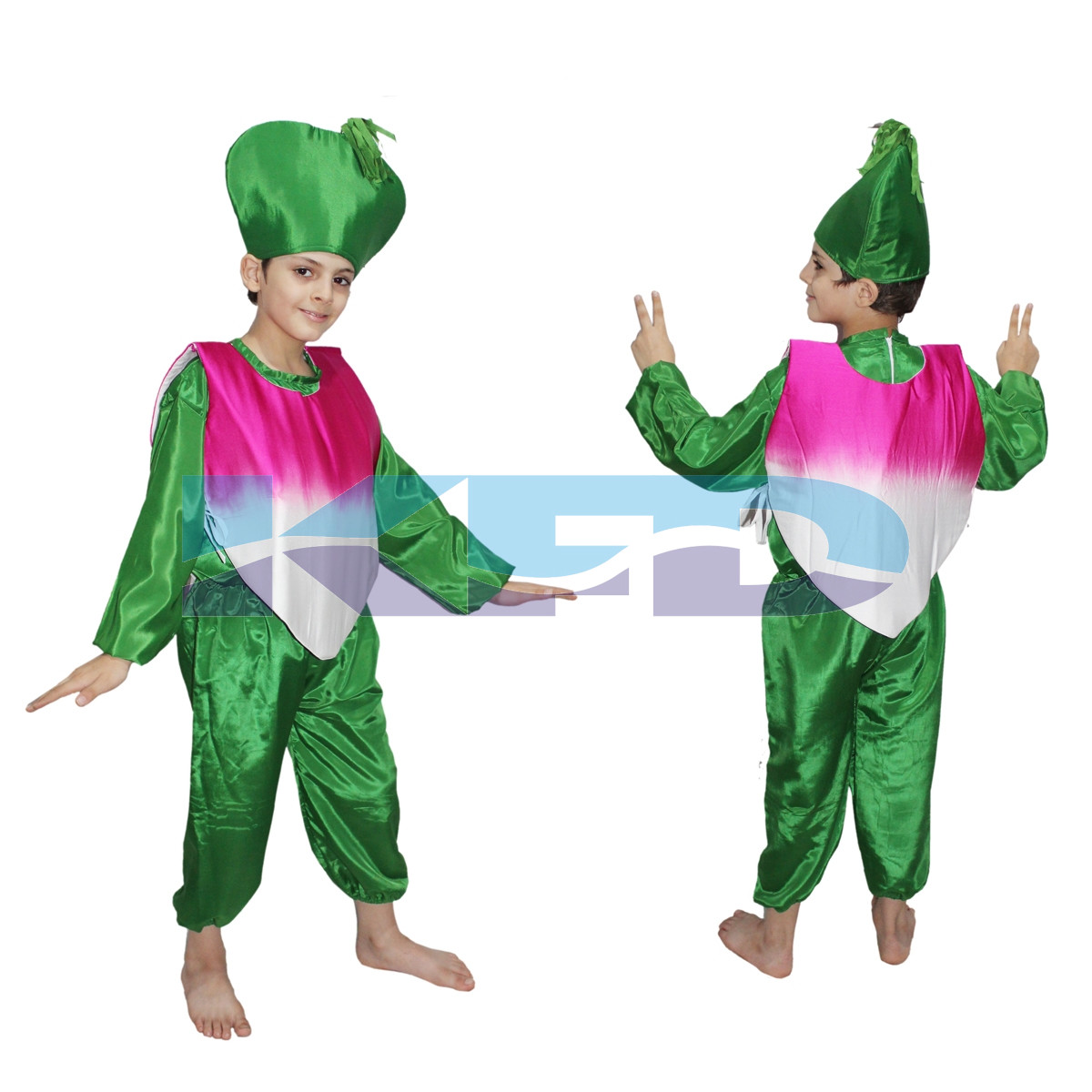 Turnip fancy dress for kids,Vegetables Costume for School Annual function/Theme Party/Competition/Stage Shows Dress