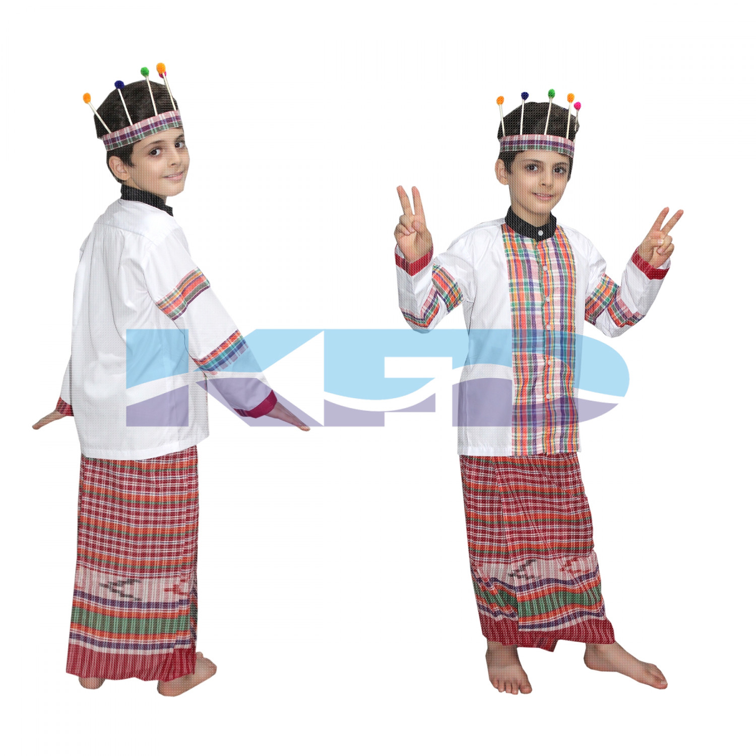 Mizoram Girl fancy dress for kids,Indian State Traditional Wear for Annual function/Theme Party/Competition/Stage Shows/Birthday Party Dress