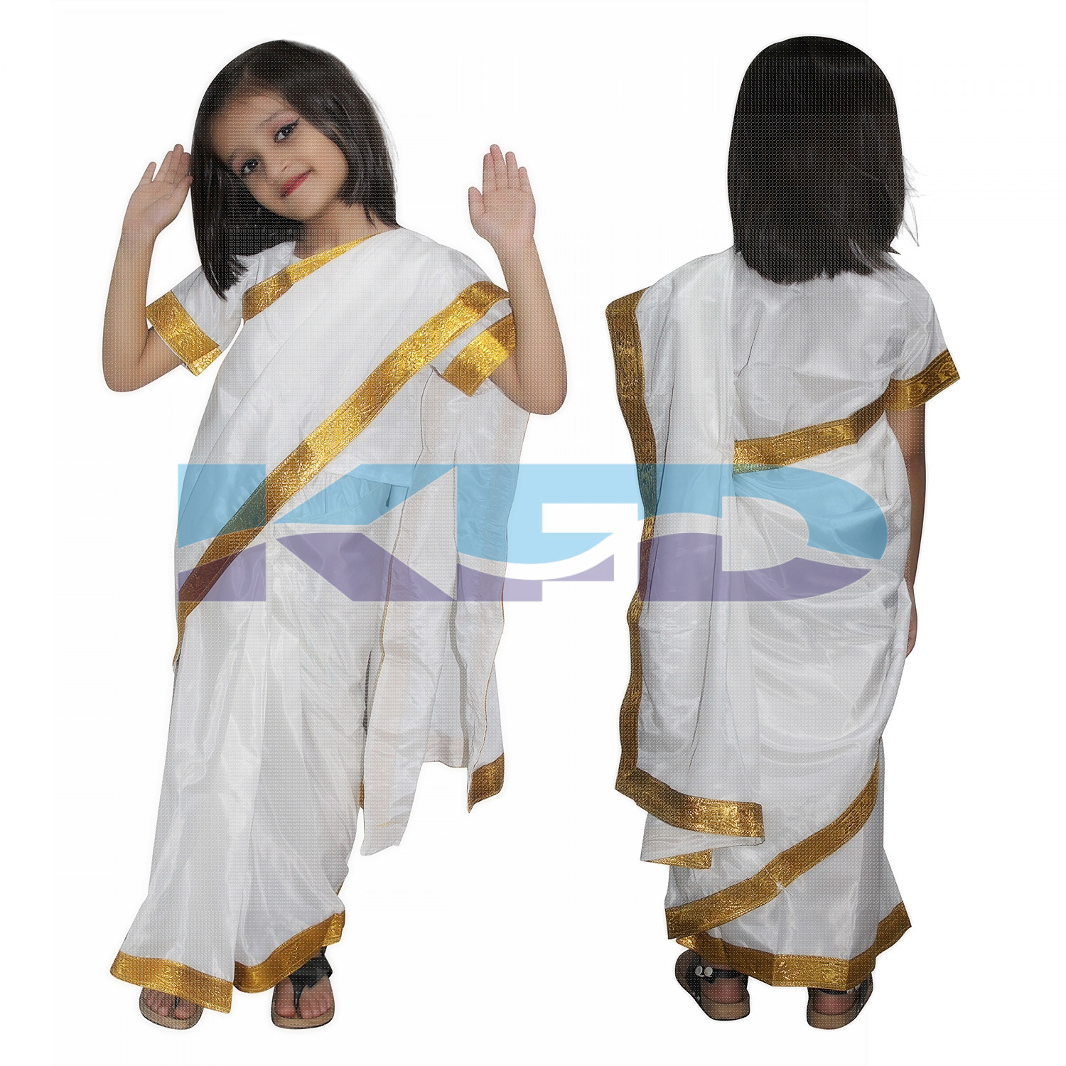 Onam Saree fancy dress for kids,Indian State Traditional Wear for Annual function/Theme Party/Competition/Stage Shows/Birthday Party Dress