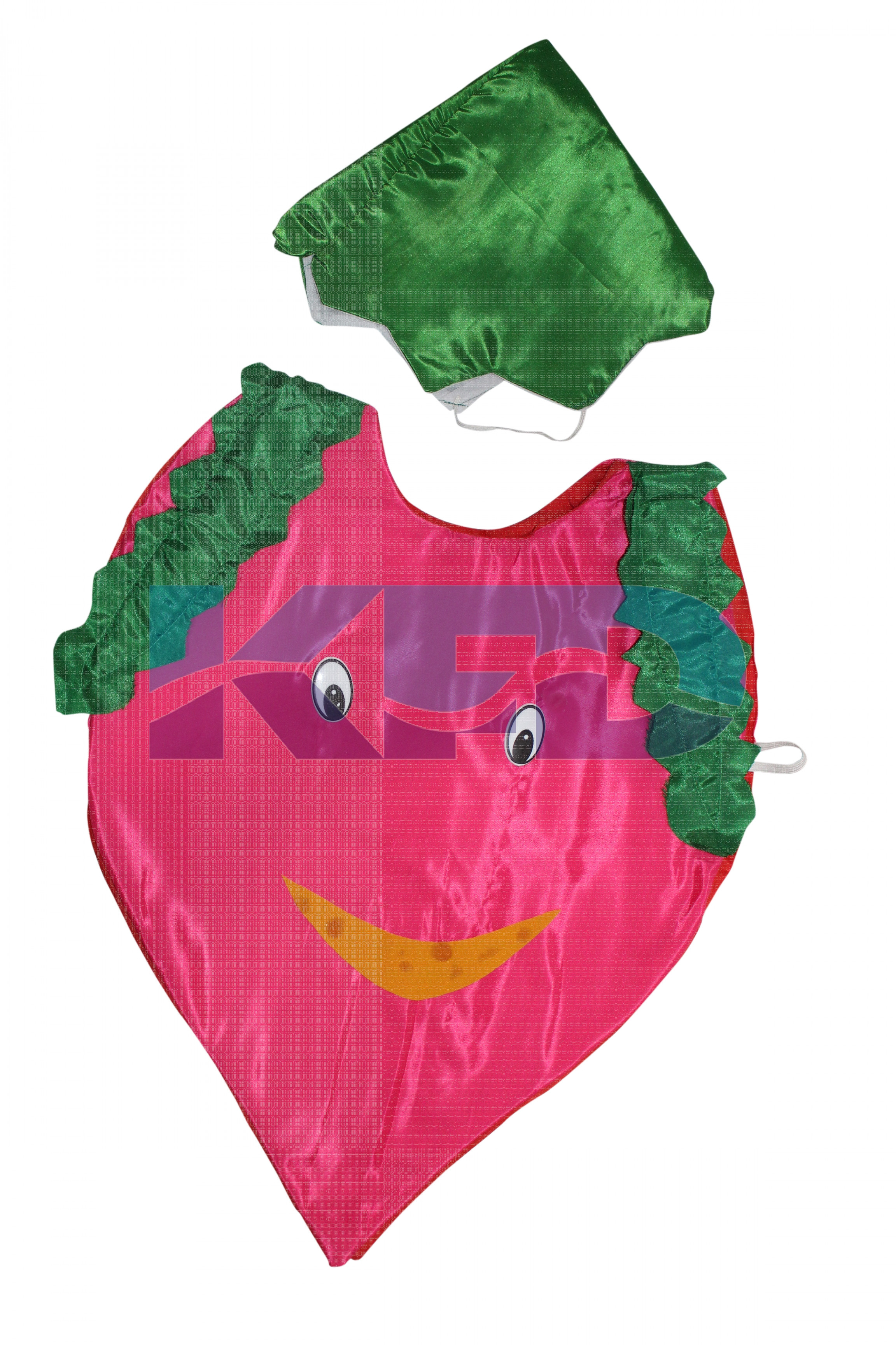 Onion Vegetables Costume only cutout with Cap for Annual function/Theme Party/Competition/Stage Shows/Birthday Party Dress