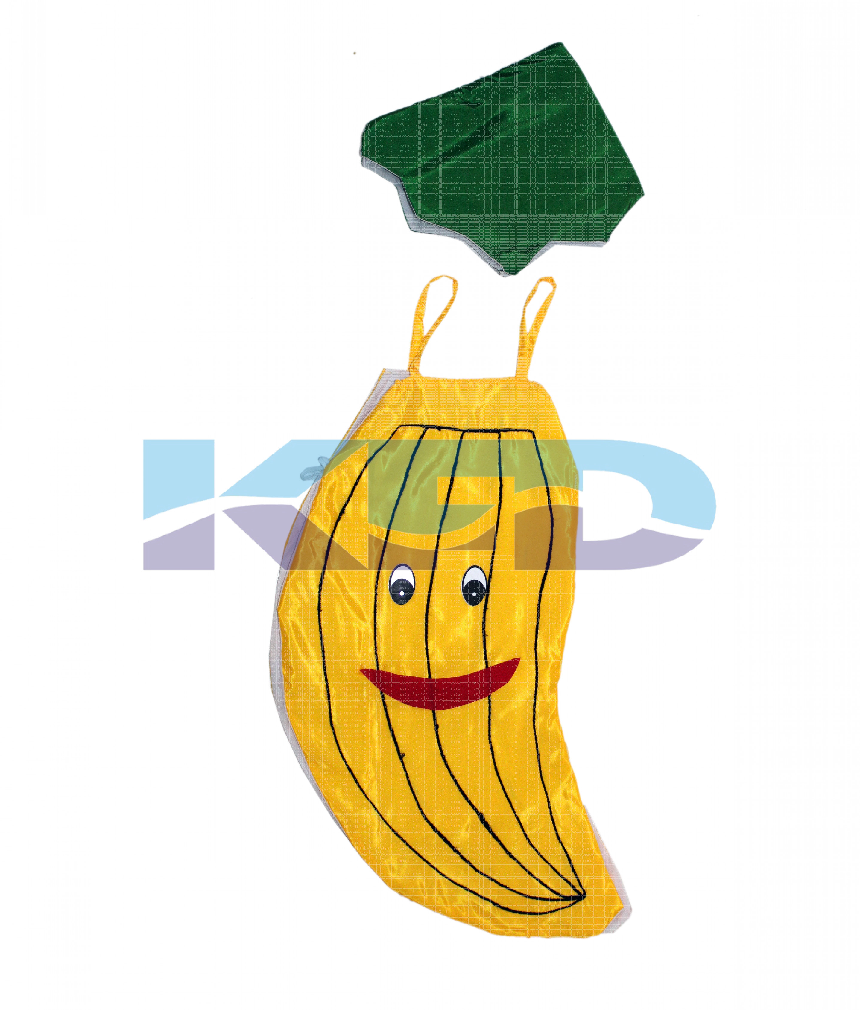 Banana Fruits Costume only cutout with Cap for Annual function/Theme Party/Competition/Stage Shows/Birthday Party Dress