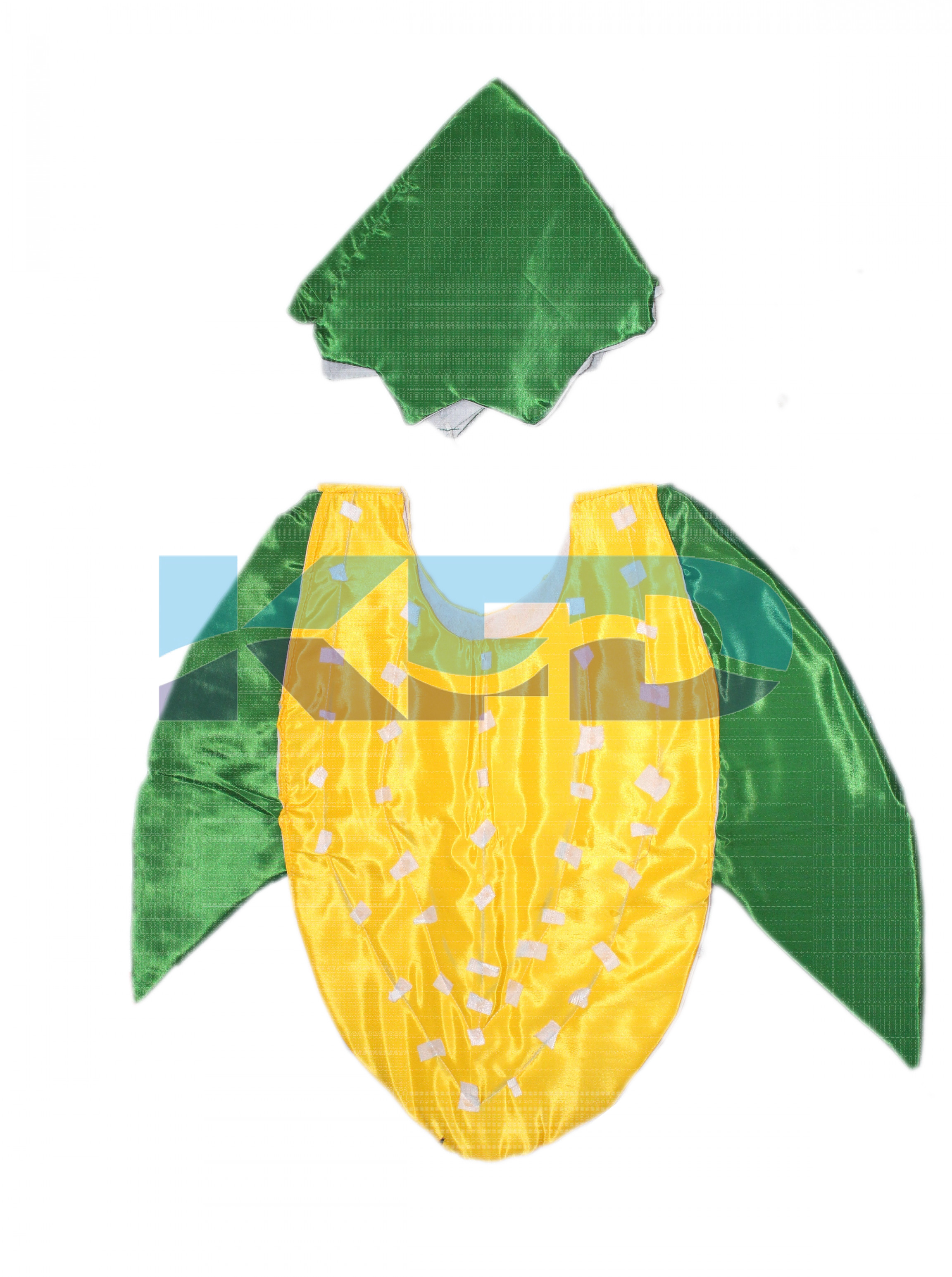 Corn Vegetables Costume only cutout with Cap for Annual function/Theme Party/Competition/Stage Shows/Birthday Party Dress